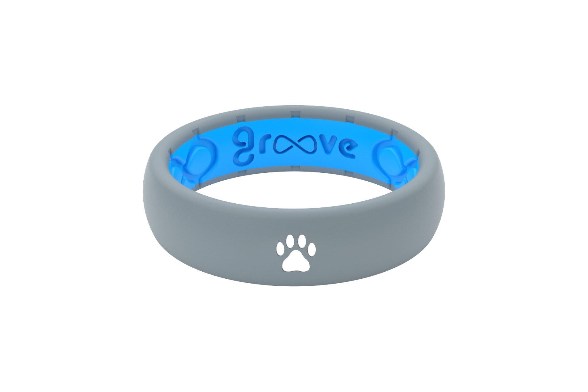Thin Custom Dog Paw  Storm Grey/Blue - Groove Life