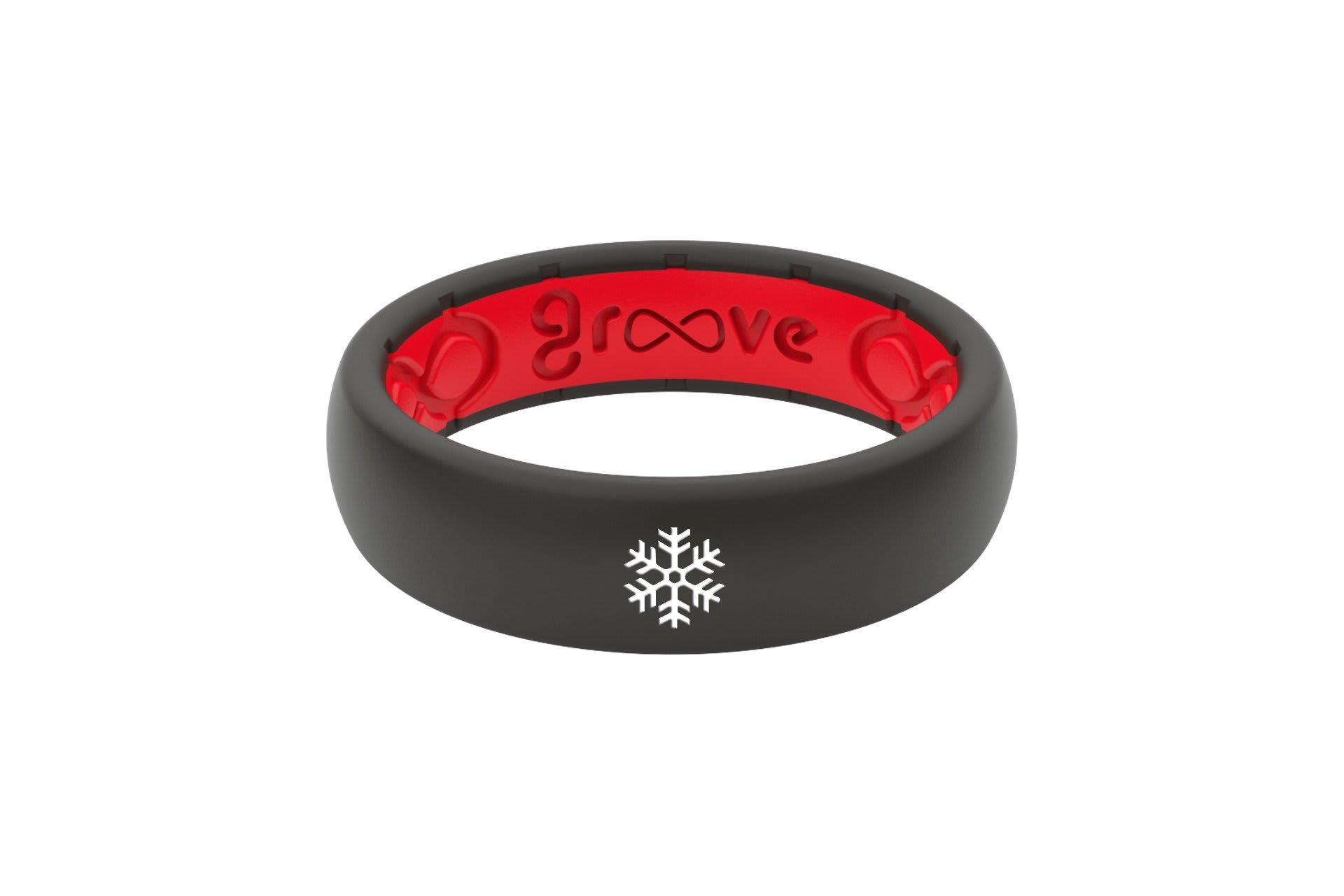 Thin Custom Snowflake Black/Red - Groove Life