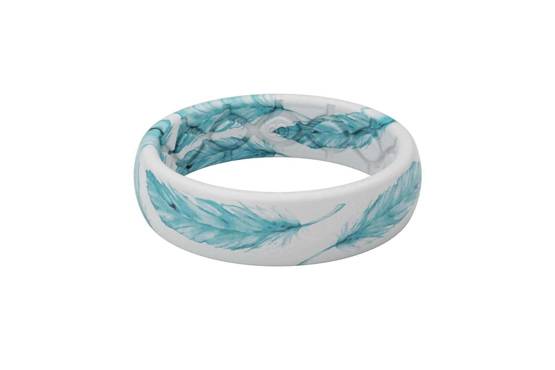 Soar Teal - Thin - Groove Life Silicone Wedding Rings