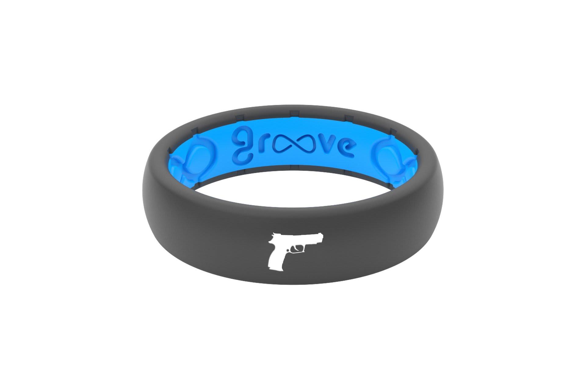 Thin Custom Handgun Deep Stone Grey/Blue - Groove Life
