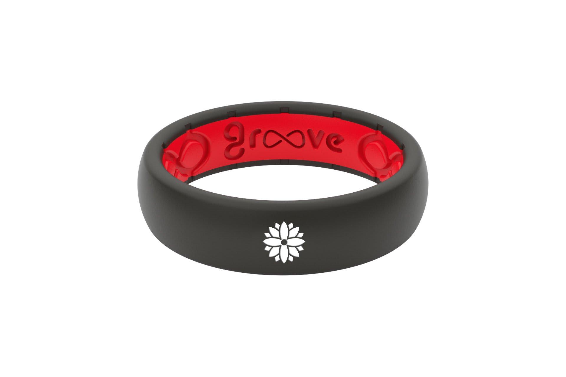 Thin Custom Flower Black/Red - Groove Life