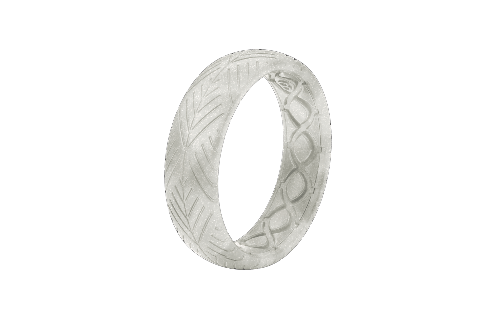 Thin Dimension Arrows Pearl - Groove Life Silicone Wedding Rings