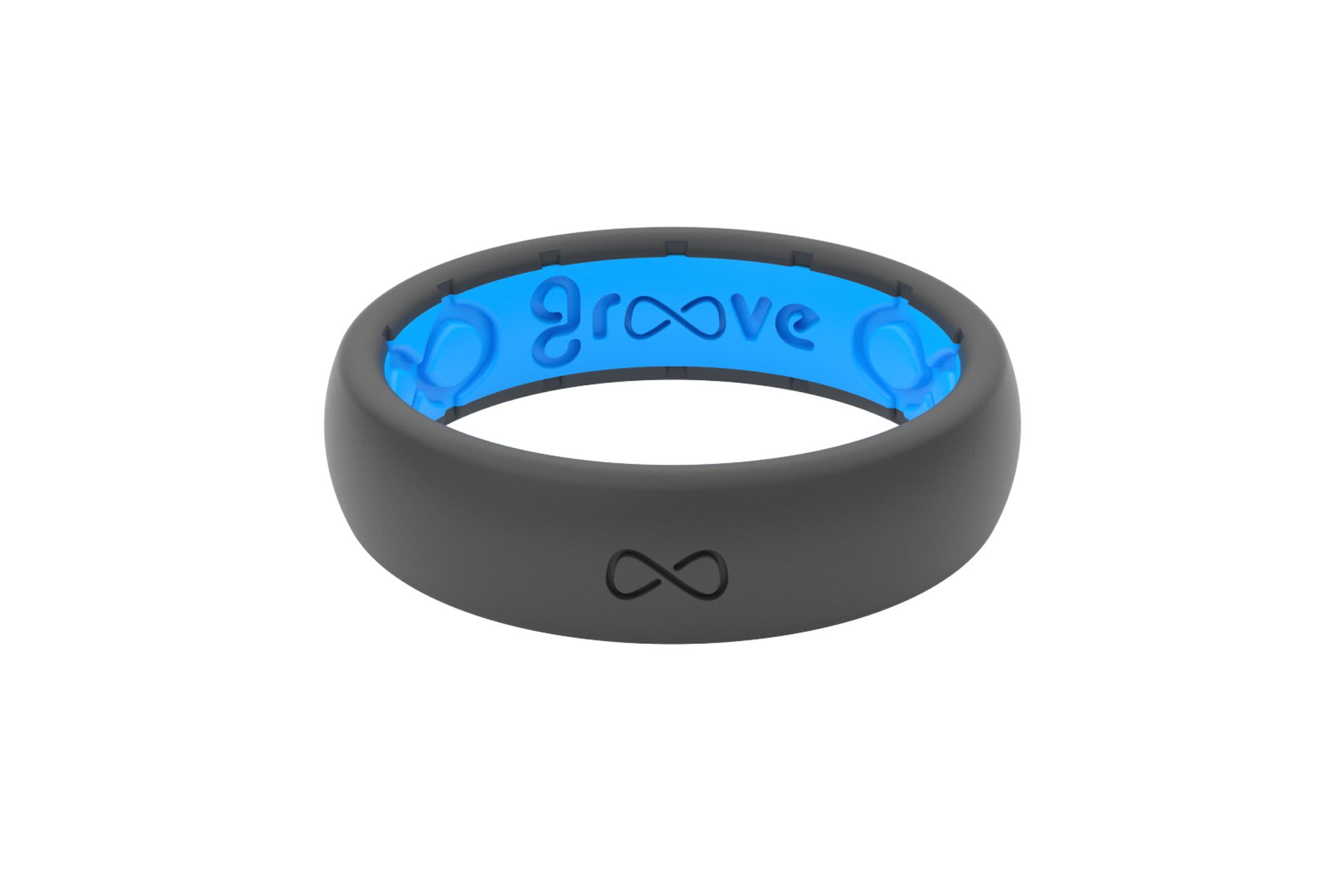 Thin Solid Deep Stone - Groove Life Silicone Wedding Rings