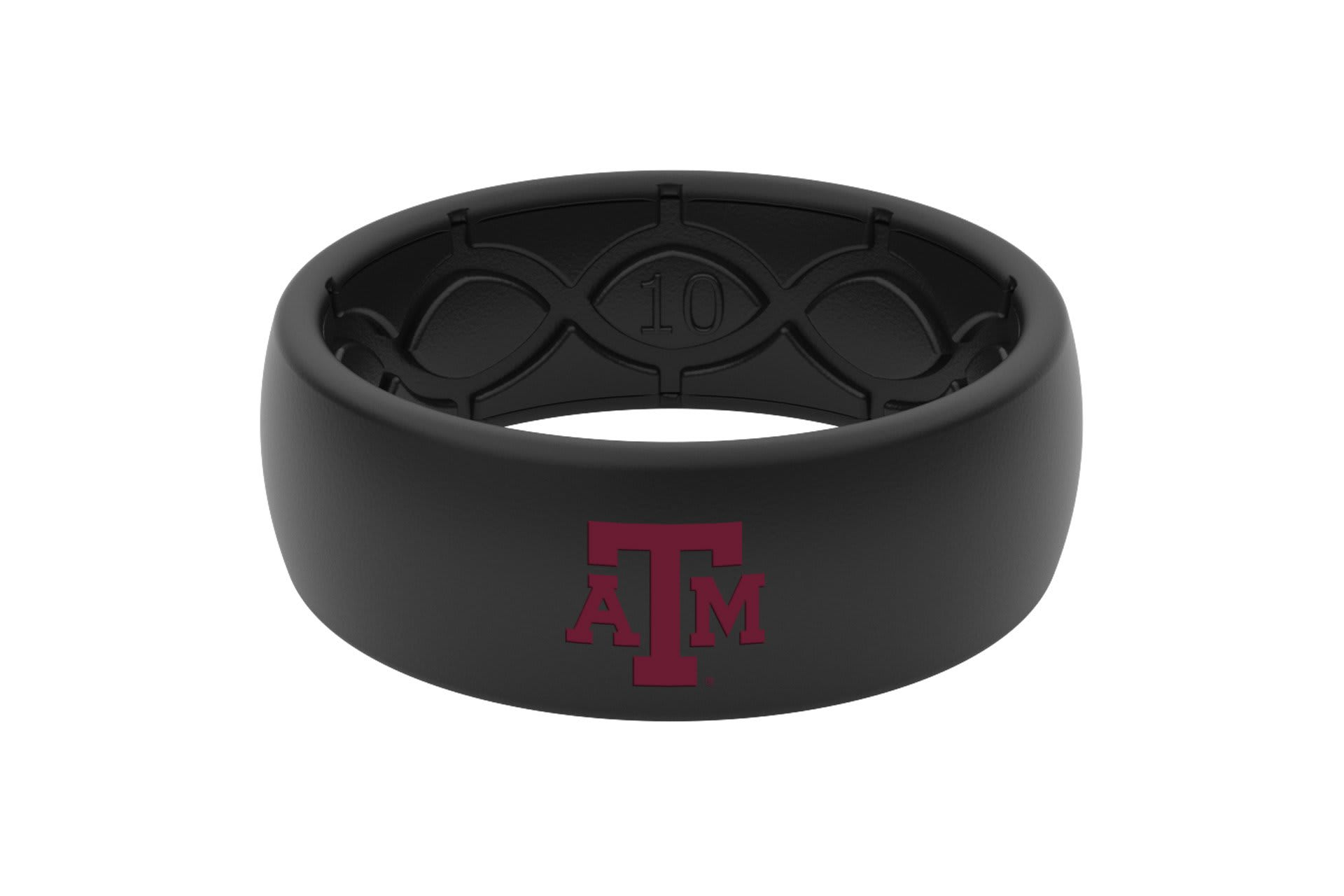 Original College Texas A&M Black Color Fill  viewed front on