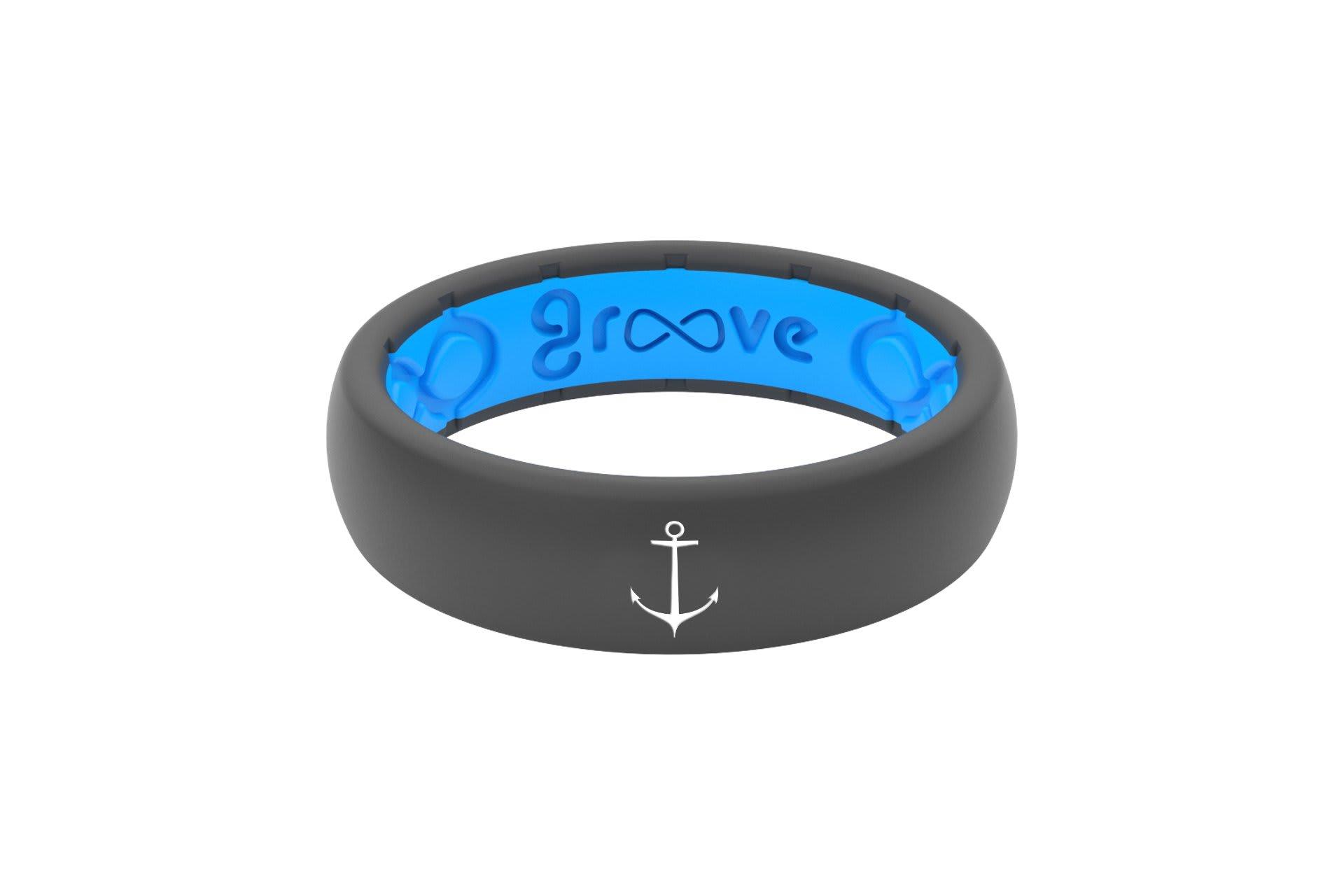 Thin Custom Anchor Deep Stone Grey/Blue - Groove Life