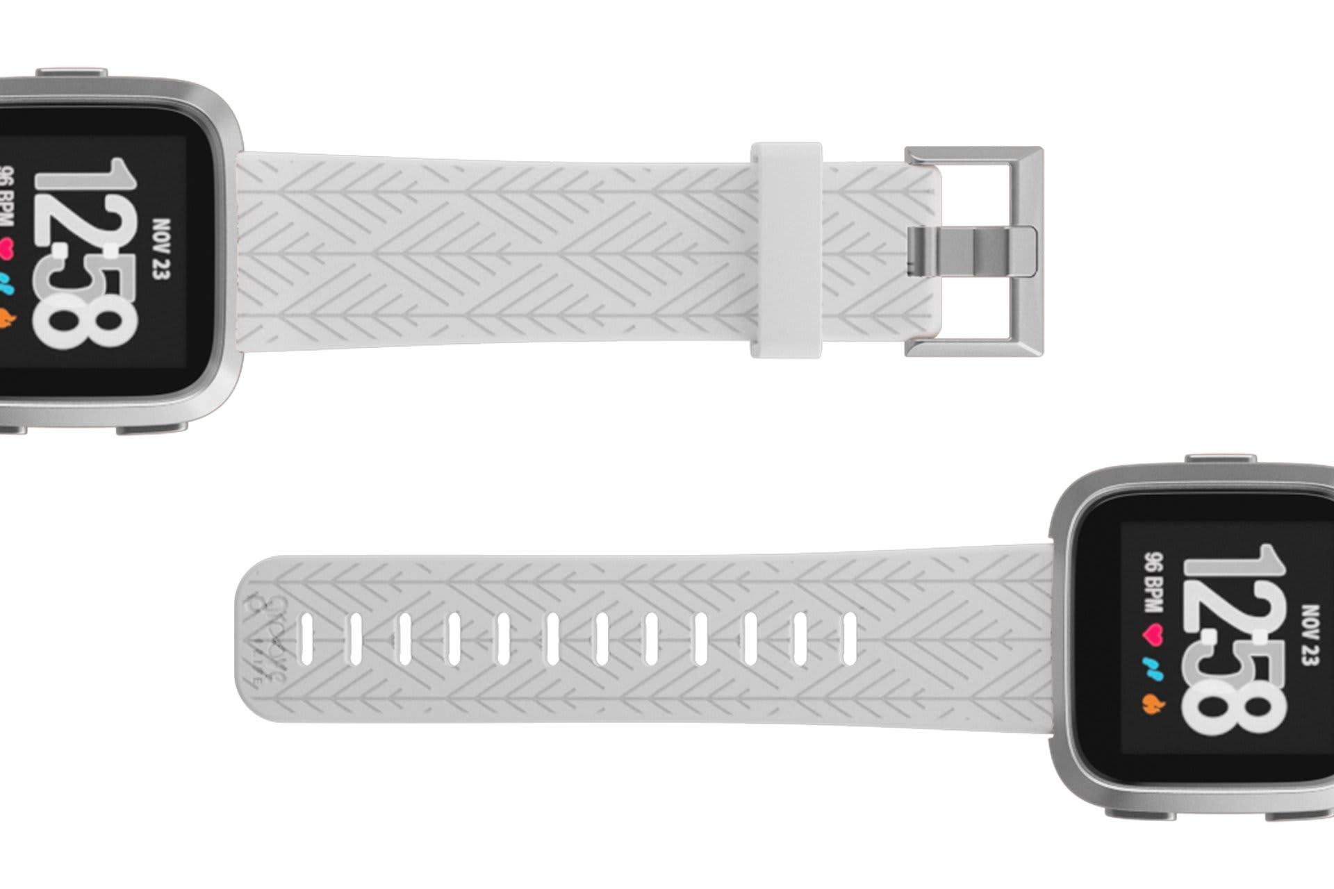 Fitbit Watch Band Versa Dimension Arrows White - Groove Life