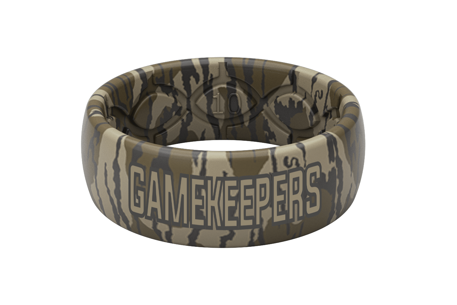Mossy Oak Gamekeepers Camo ring viewed front on