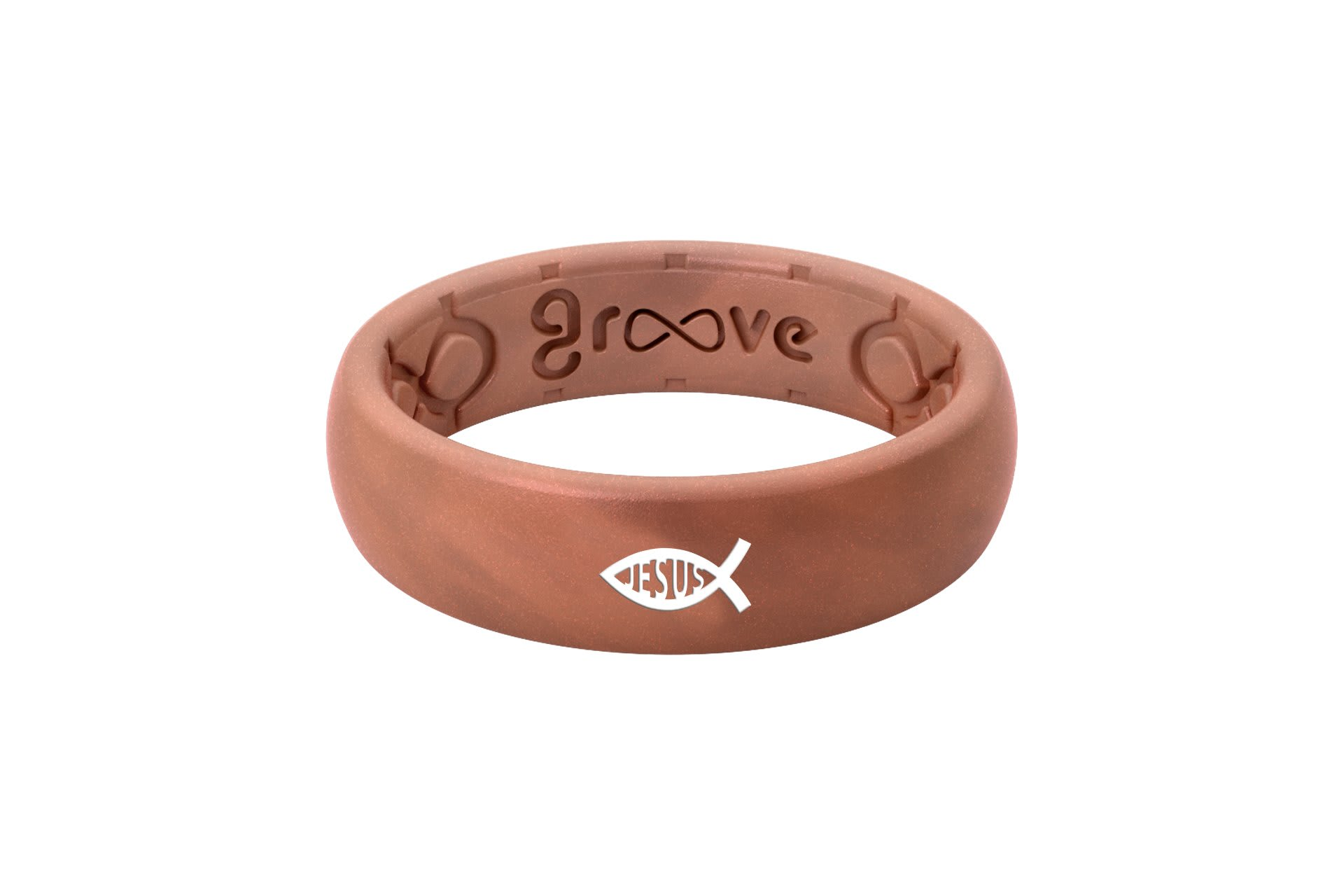 Thin Custom Ichthus Jesus Copper - Groove Life