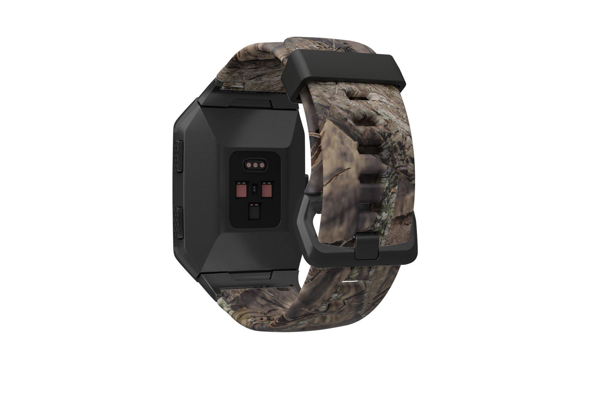 Mossy Oak Breakup Fitbit Ionic watch band viewed from rear
