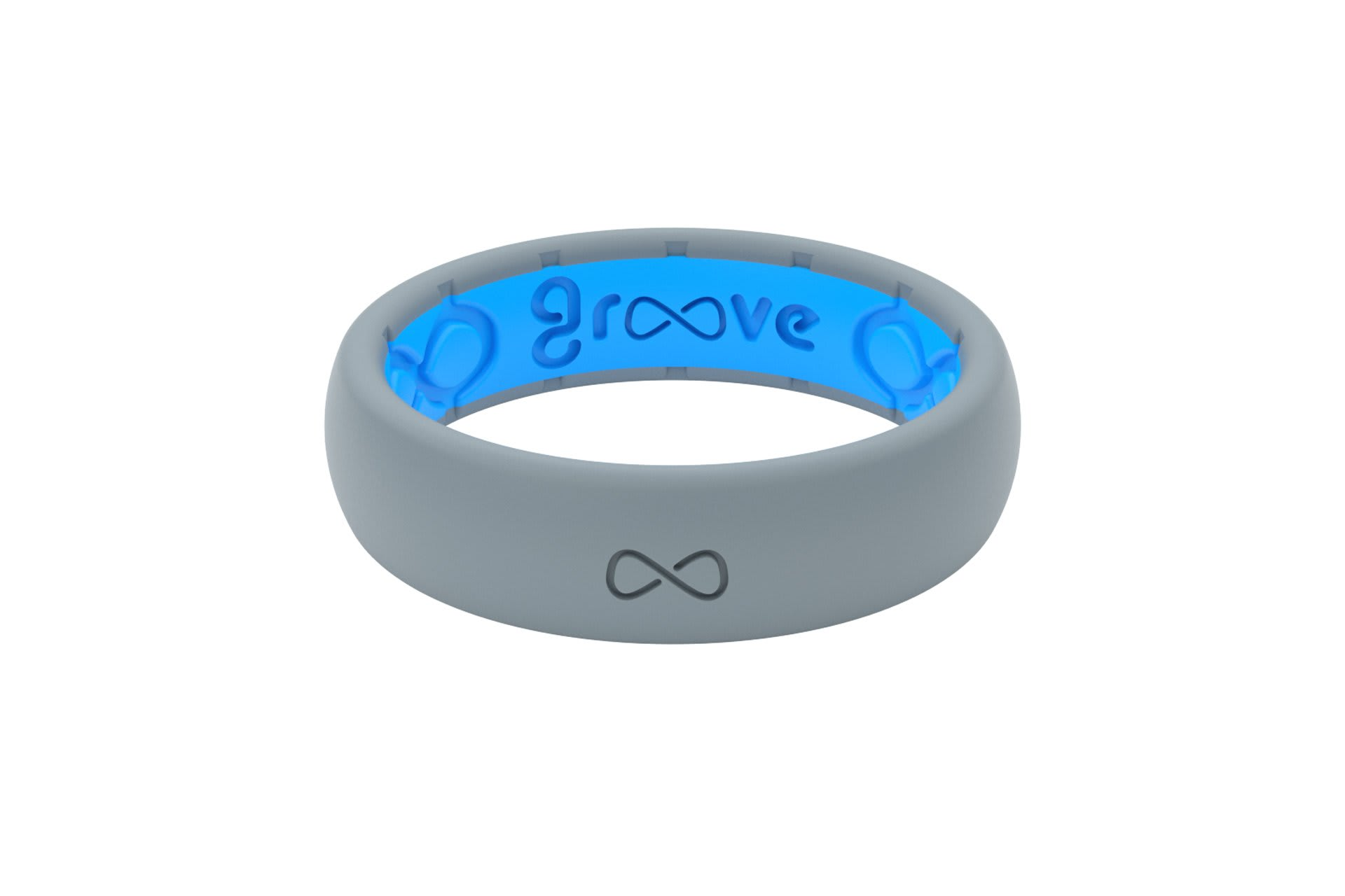 Thin Solid Storm Grey - Groove Life Silicone Wedding Rings