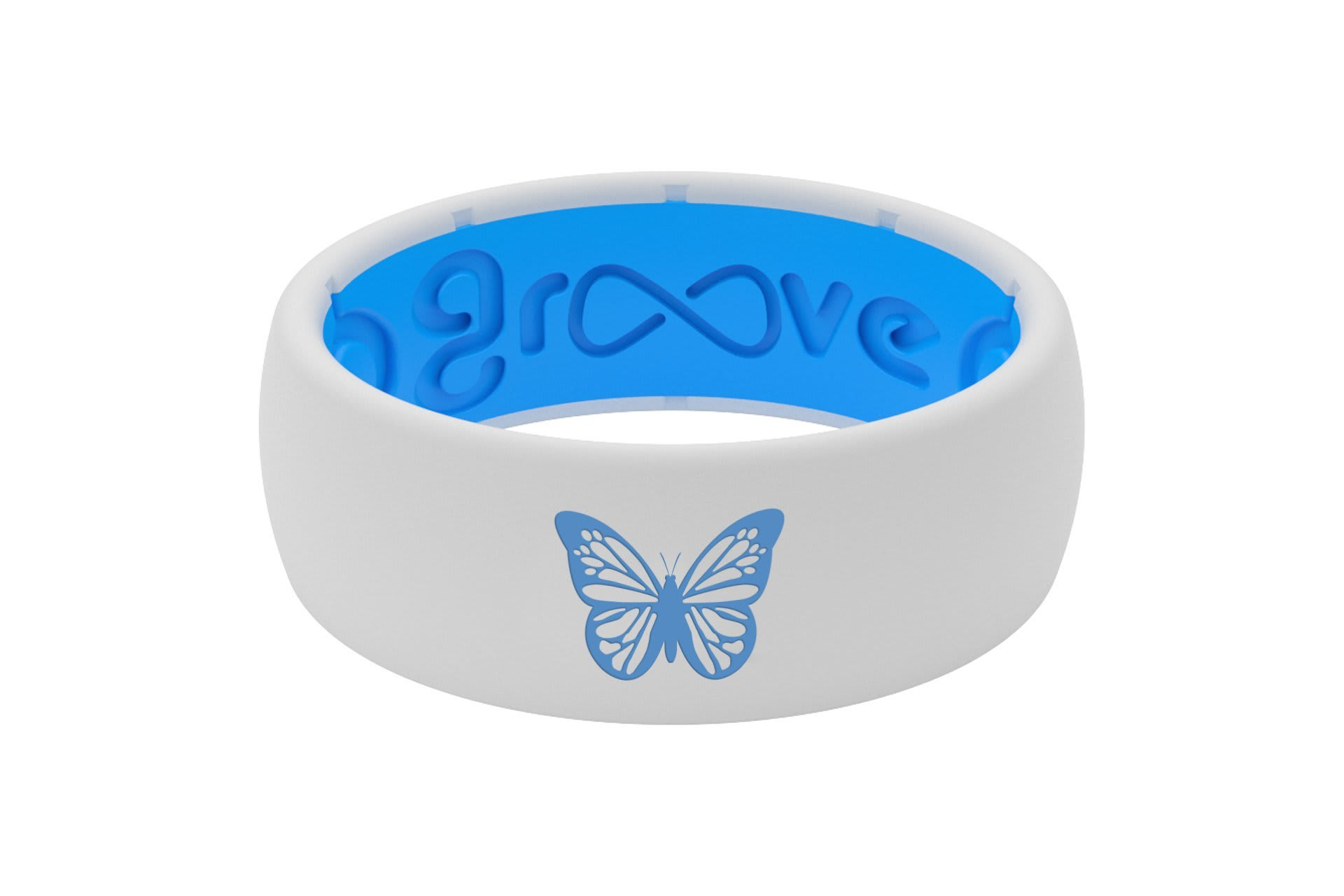 Original Custom Butterfly White/Blue - Groove Life