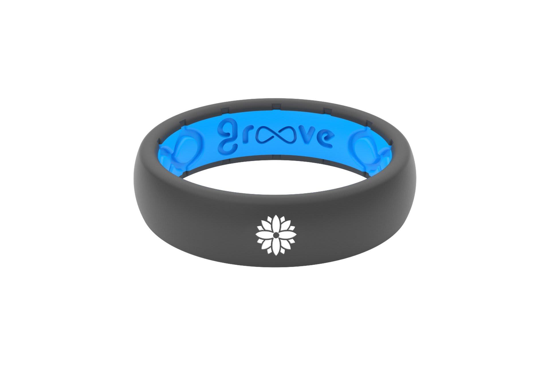 Thin Custom Flower Deep Stone Grey/Blue - Groove Life