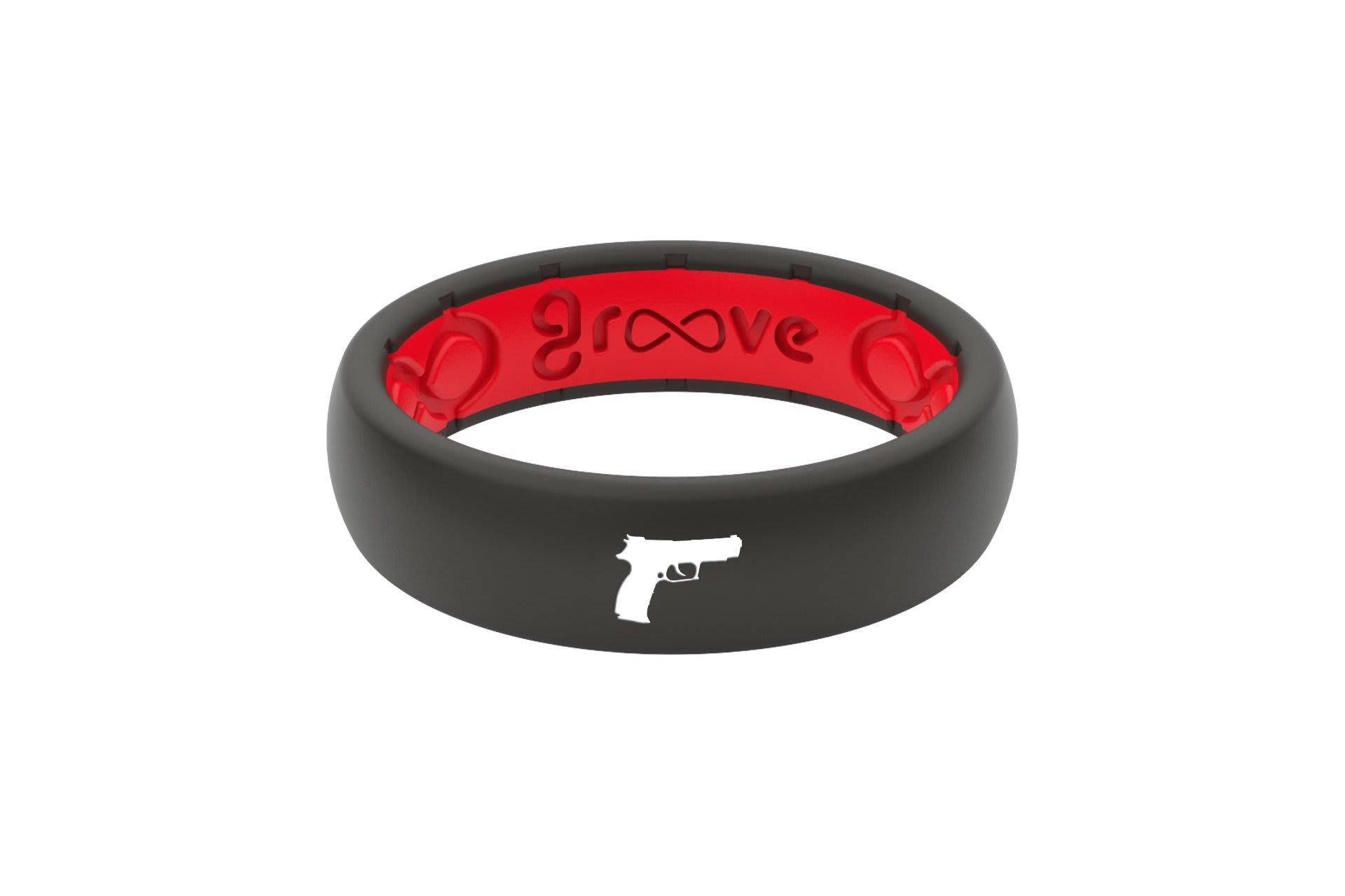 Thin Custom Handgun Black/Red - Groove Life