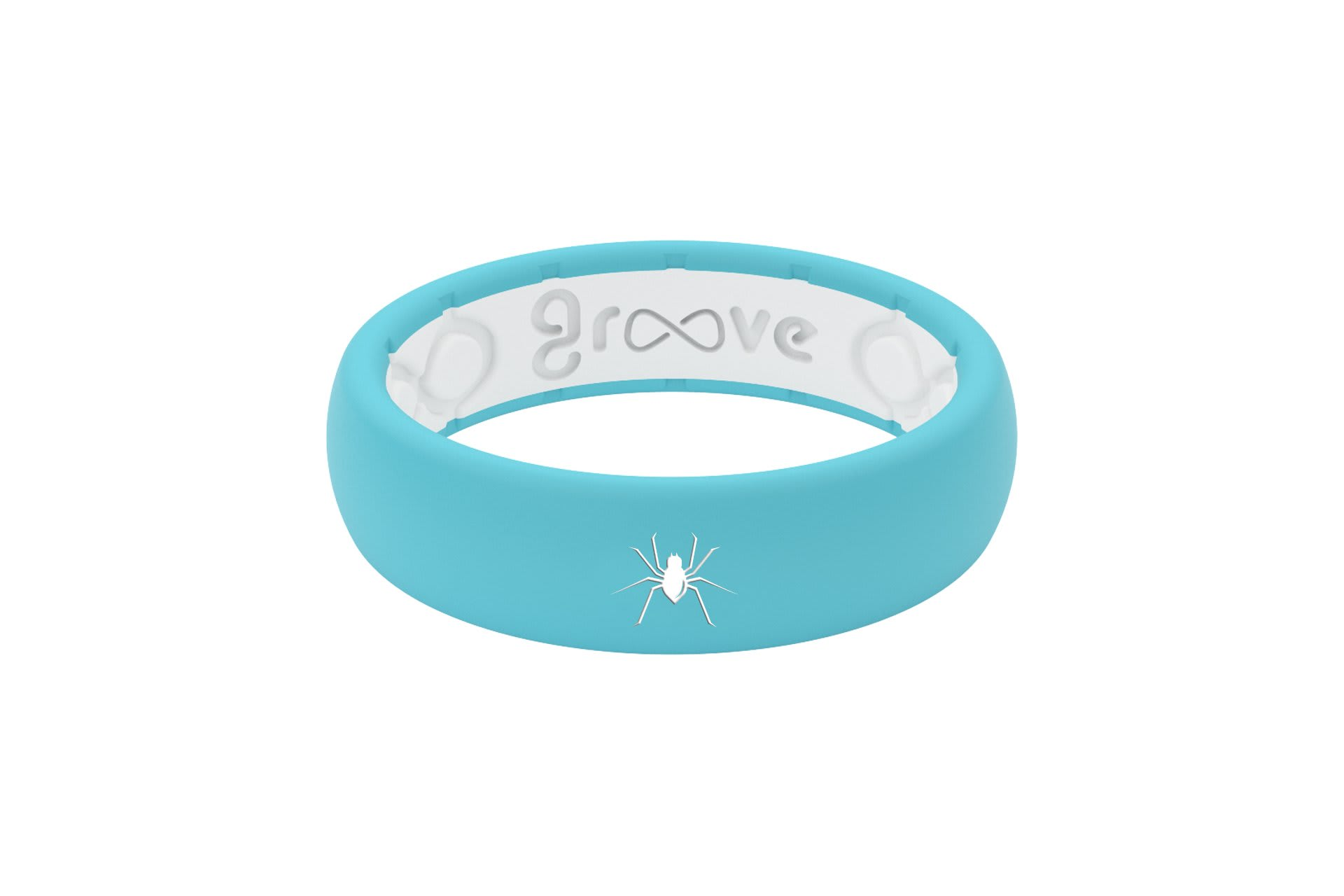 Thin Custom Spider Turquoise/White - Groove Life