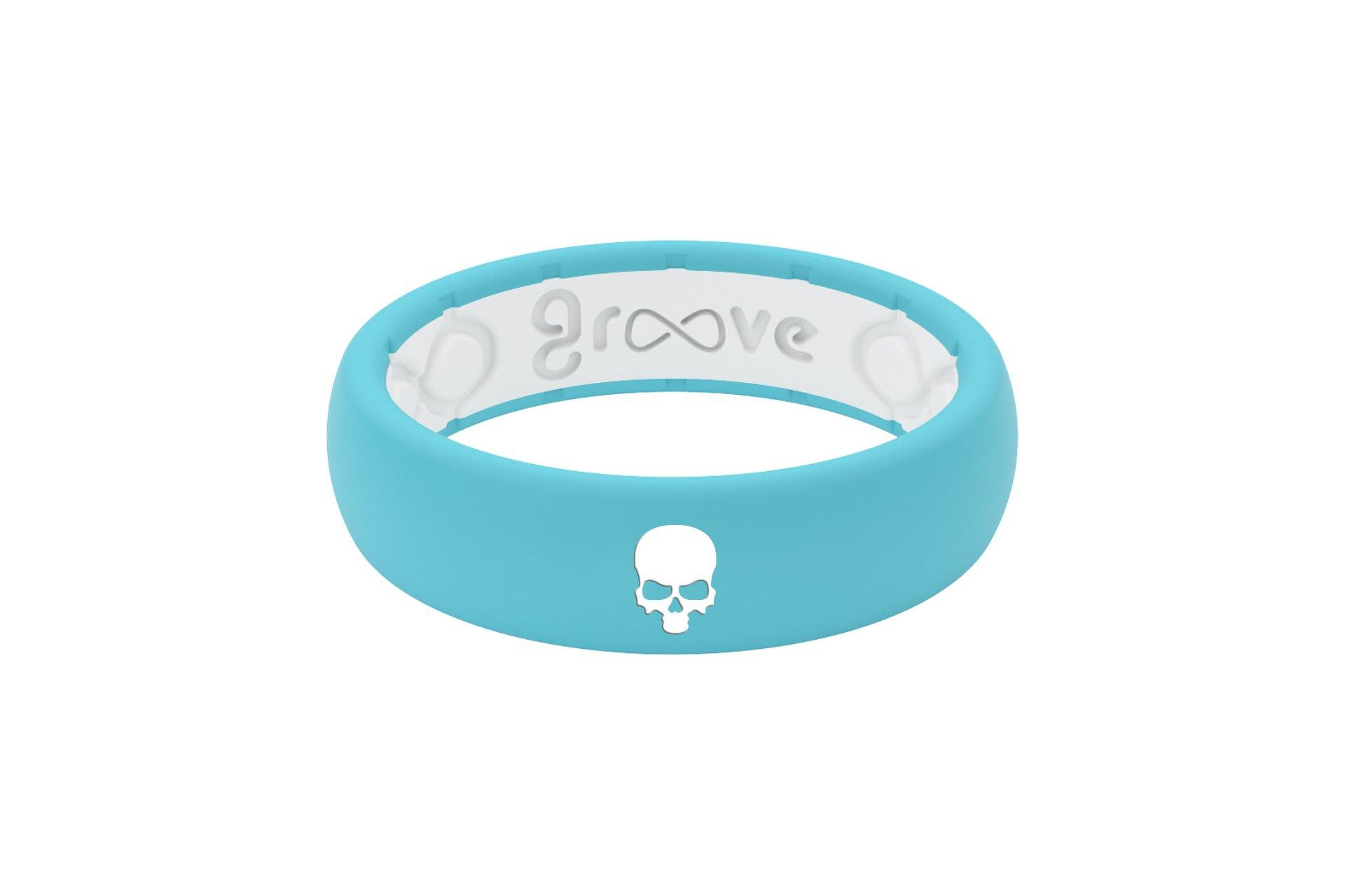 Thin Custom Skull Turquoise/White - Groove Life
