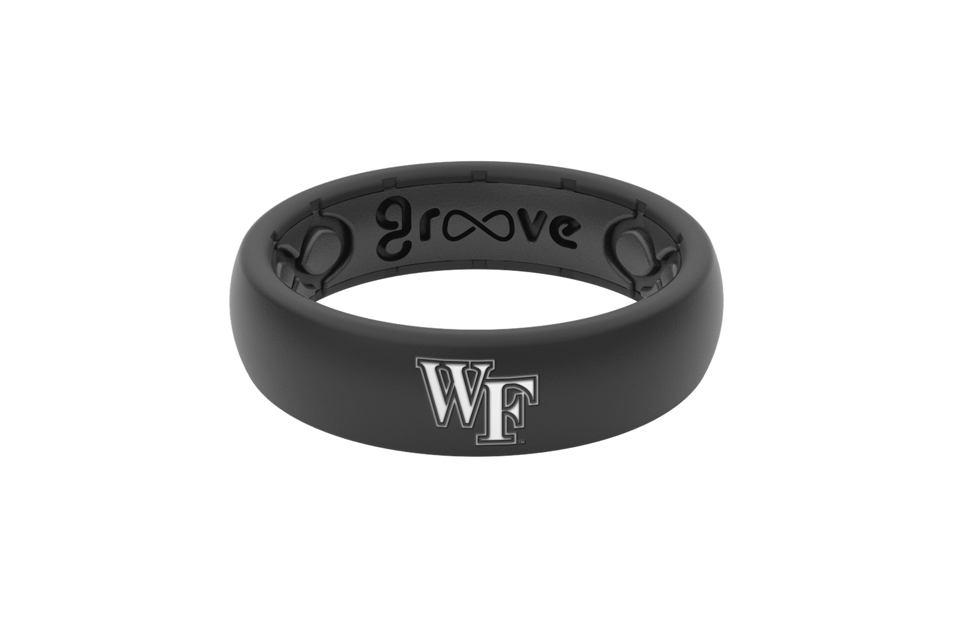 Thin College Wake Forest - Groove Life Silicone Wedding Rings