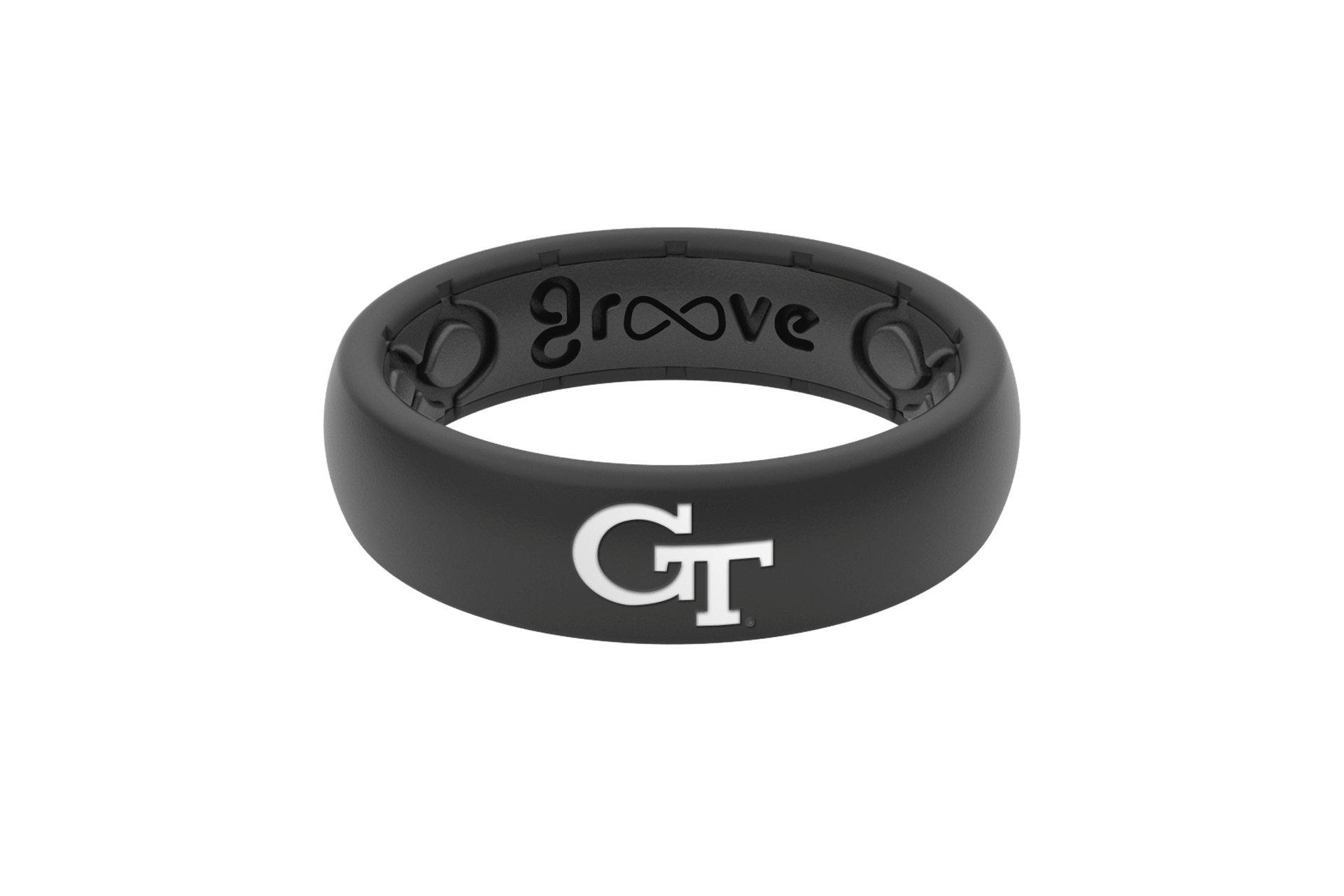 Thin College Georgia Tech - Groove Life Silicone Wedding Rings