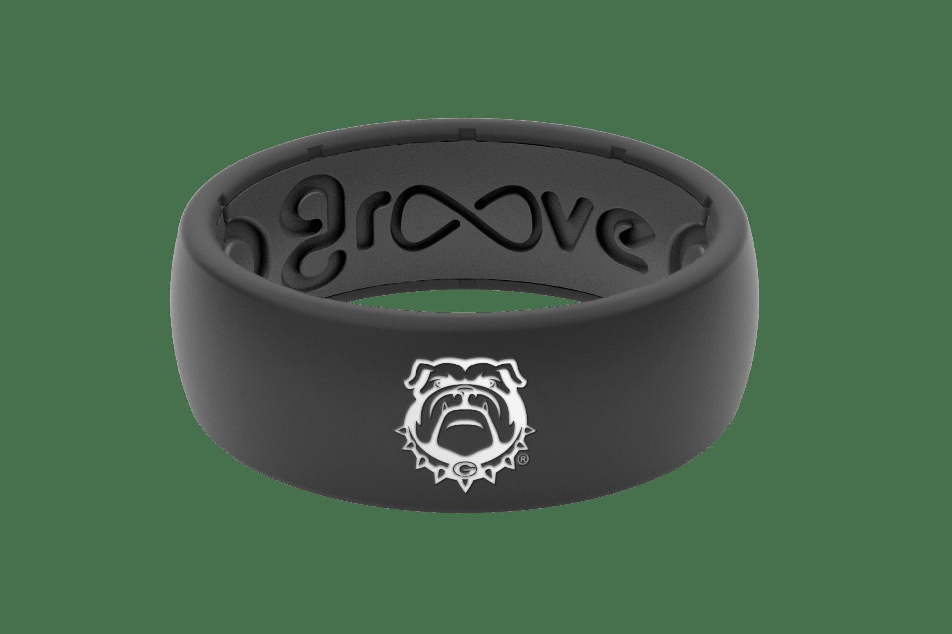 Original College Georgia Black Mascot - Groove Life Silicone Wedding Rings