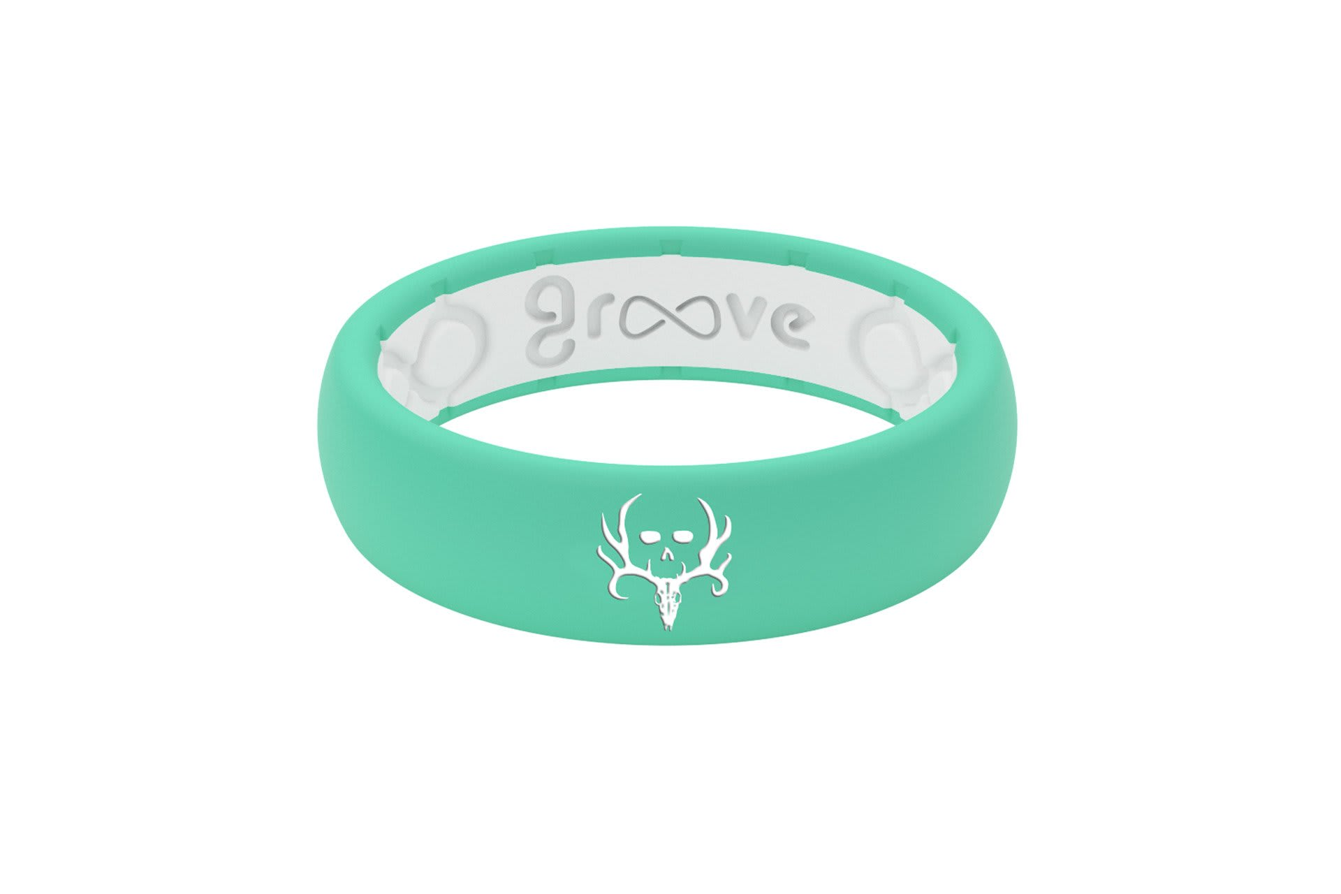 Thin Bone Collector Seafoam - Groove Life Silicone Wedding Rings