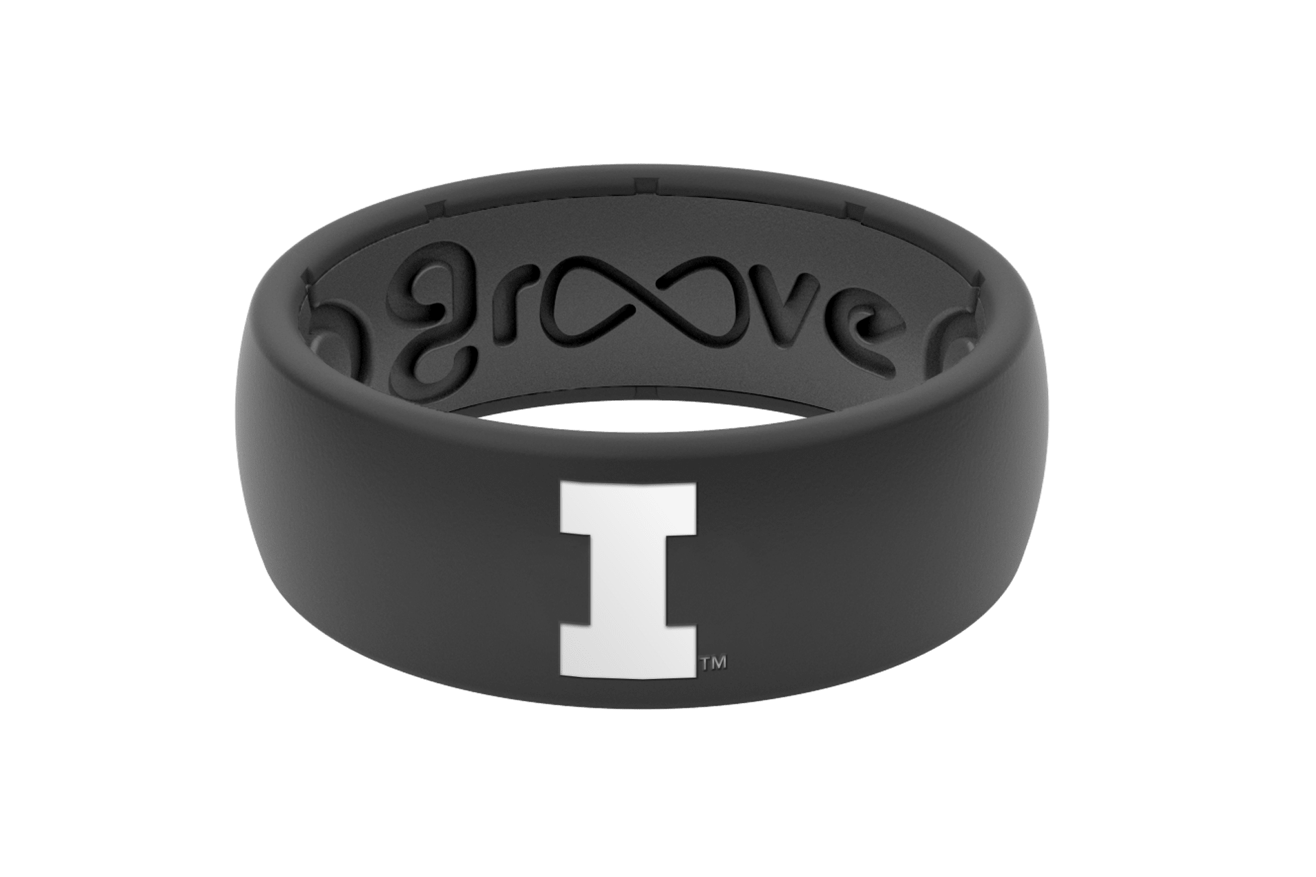 Original College Illinois - Groove Life Silicone Wedding Rings