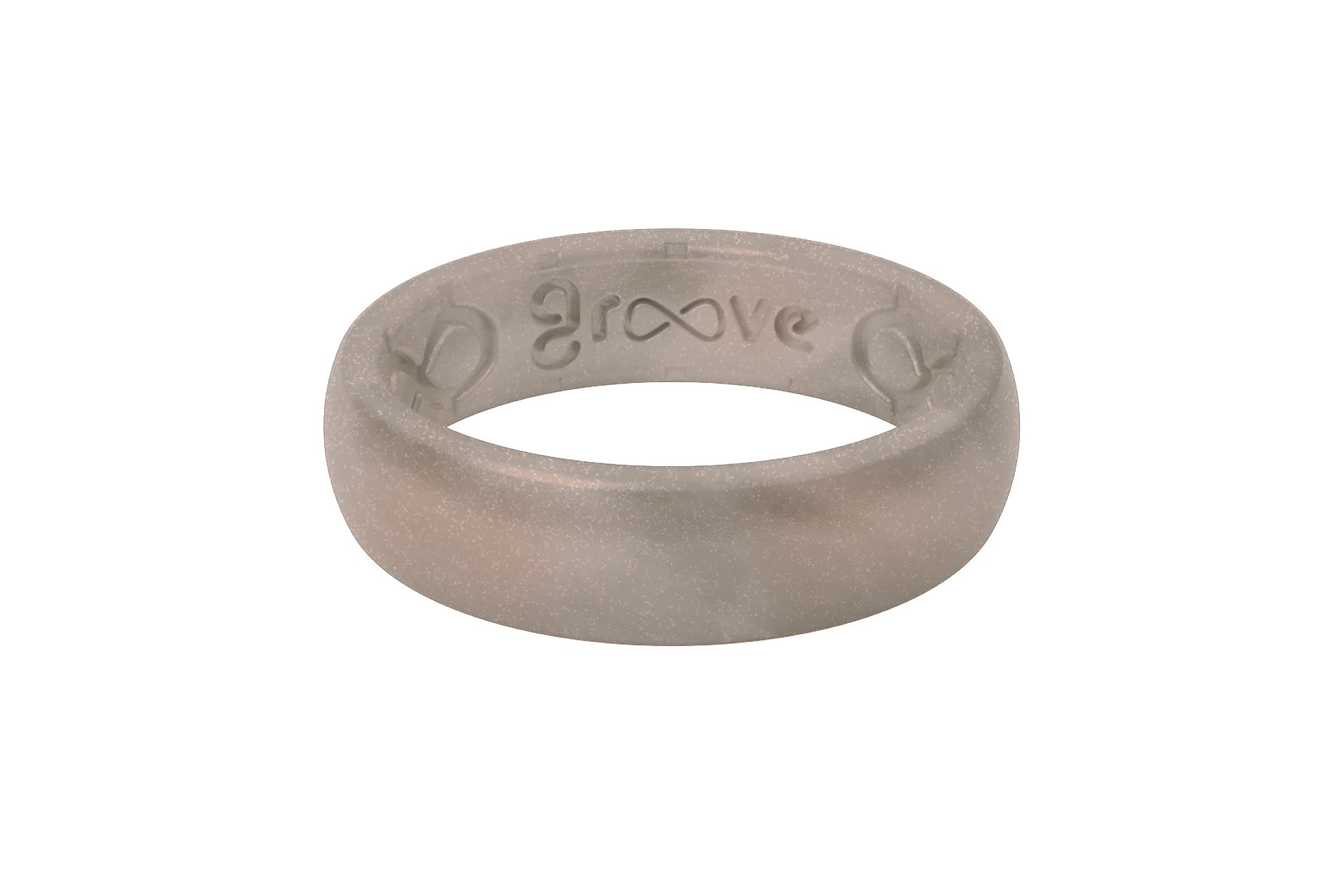 Thin Solid Pewter - Groove Life Silicone Wedding Rings