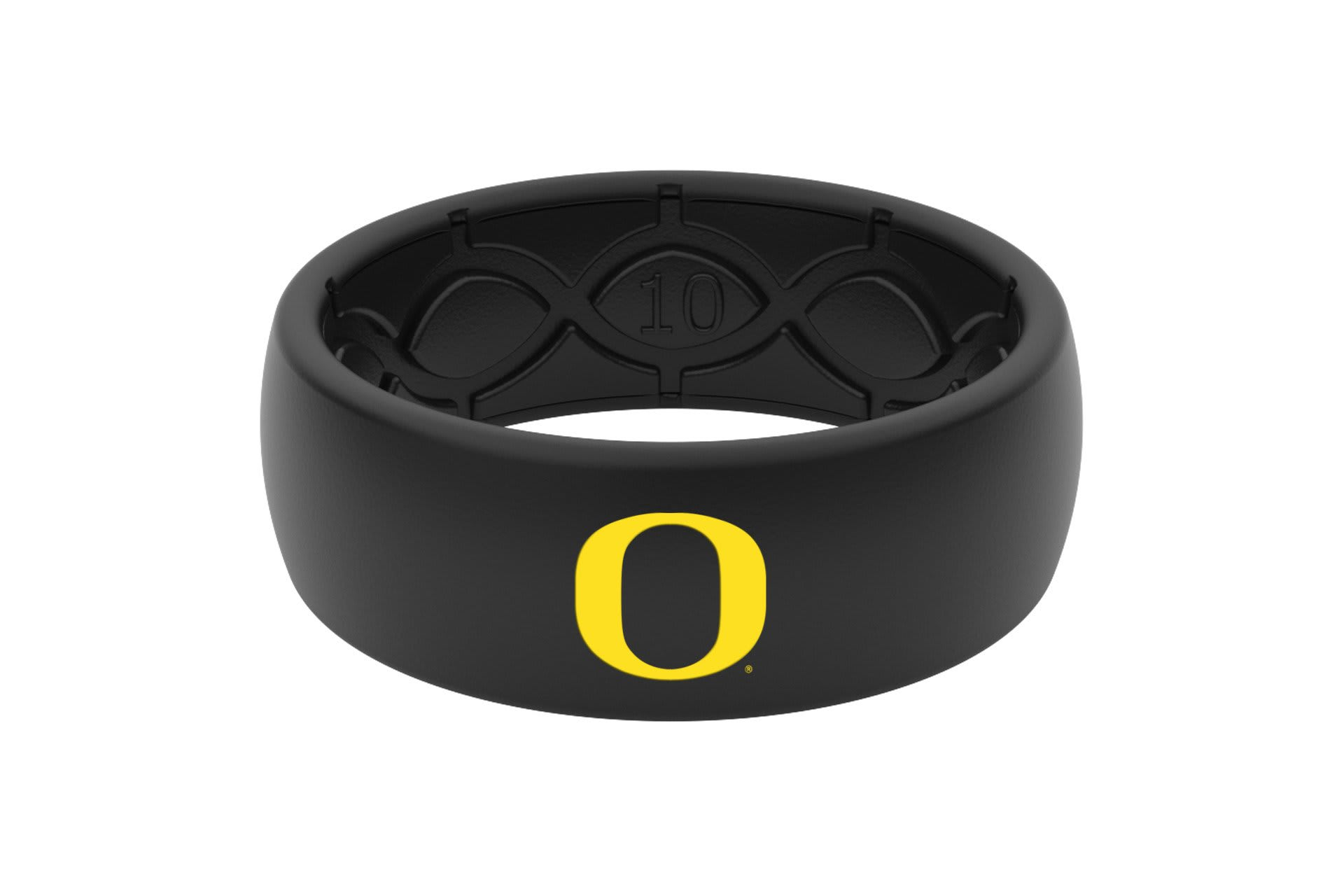 Original College Oregon Black Color Fill - Groove Life Silicone Wedding Rings
