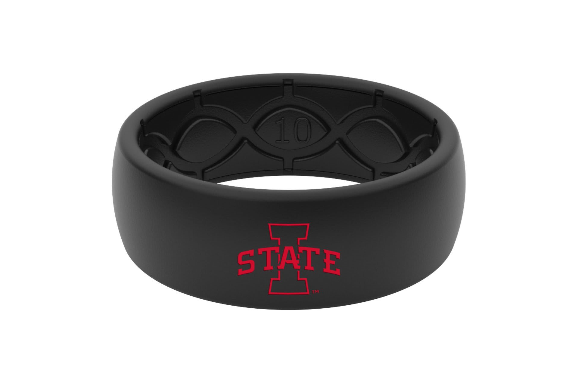 Original College Iowa State Black Color Fill  viewed front on