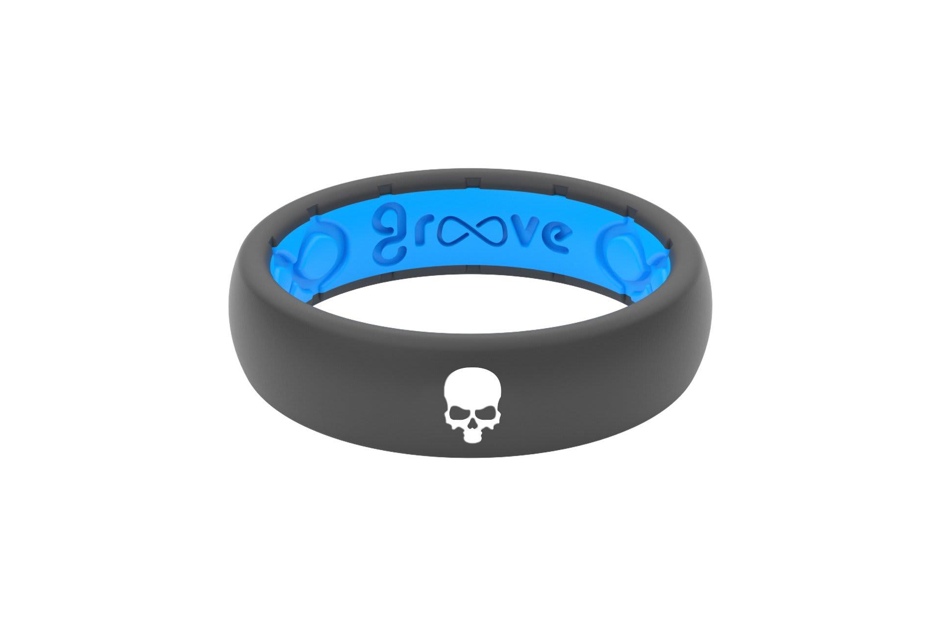 Thin Custom Skull Deep Stone Grey/Blue - Groove Life