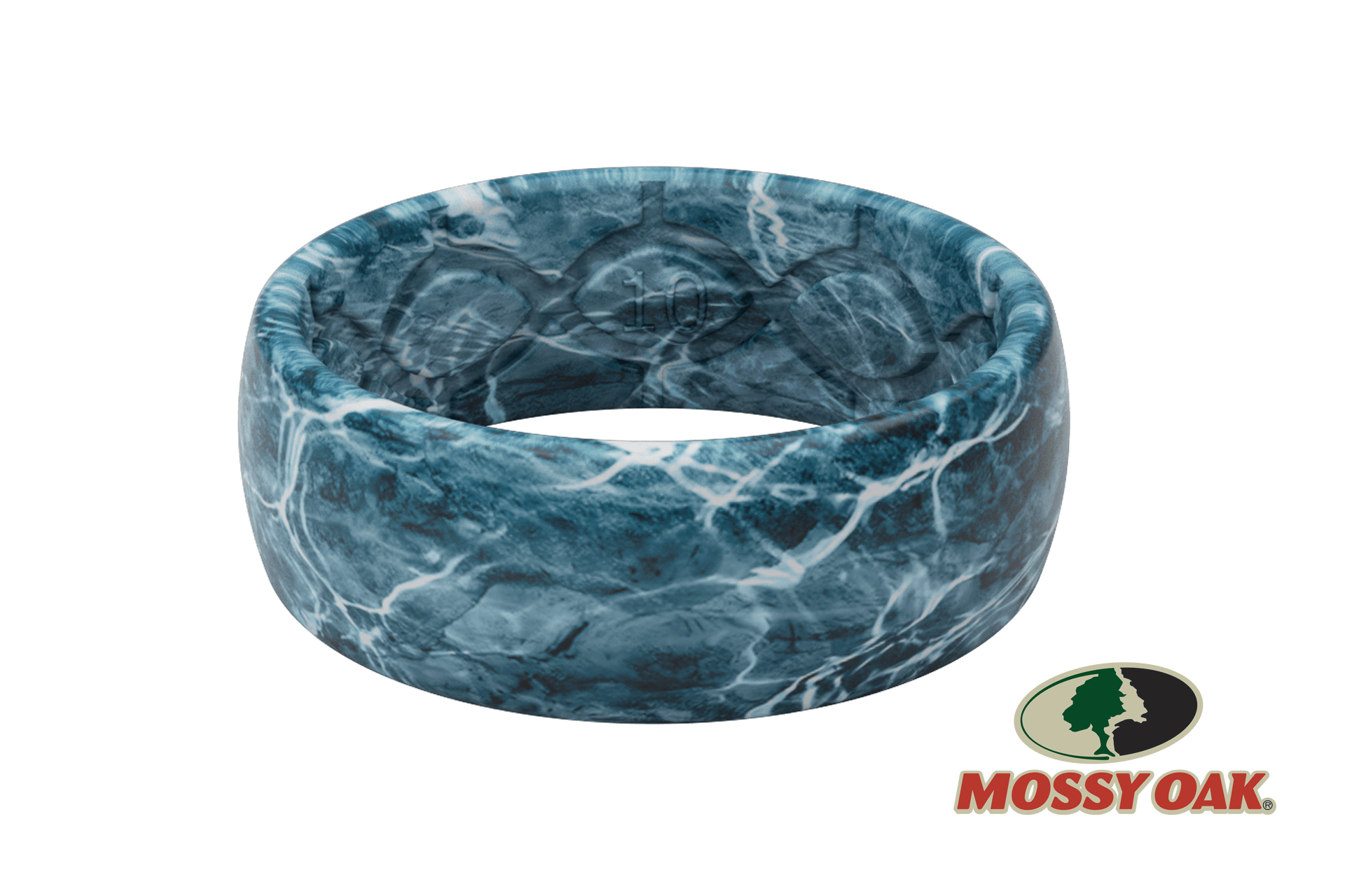 Original Camo Mossy Oak Elements Agua Spindrift Pattern  viewed on its side  viewed on its side