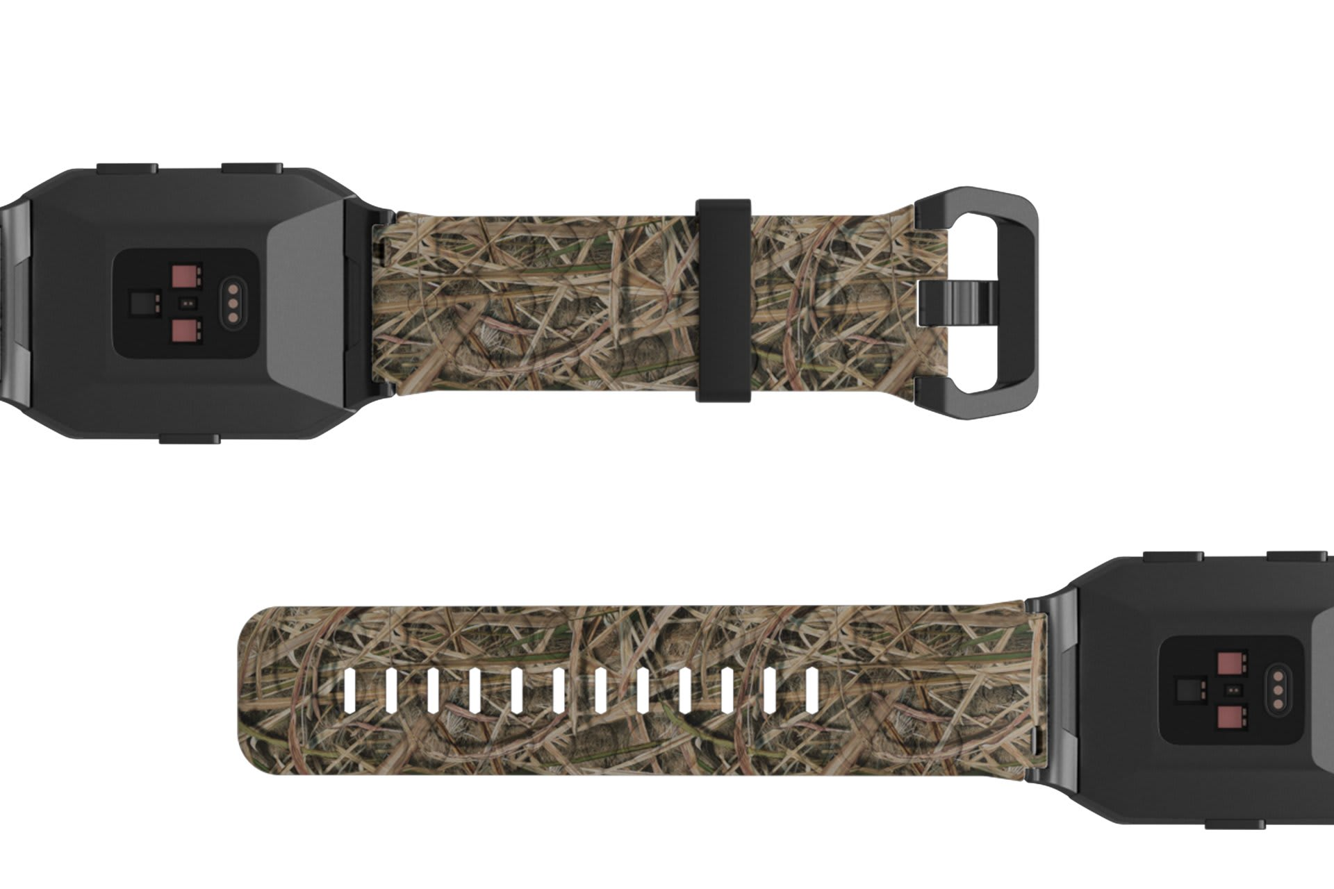 Mossy Oak Blades  Fitbit  Ionic watch band viewed bottom up