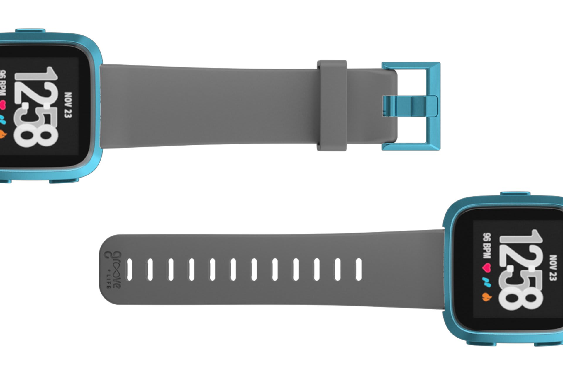 Fitbit Watch Band Versa Solid Deep Stone Gray - Groove Life