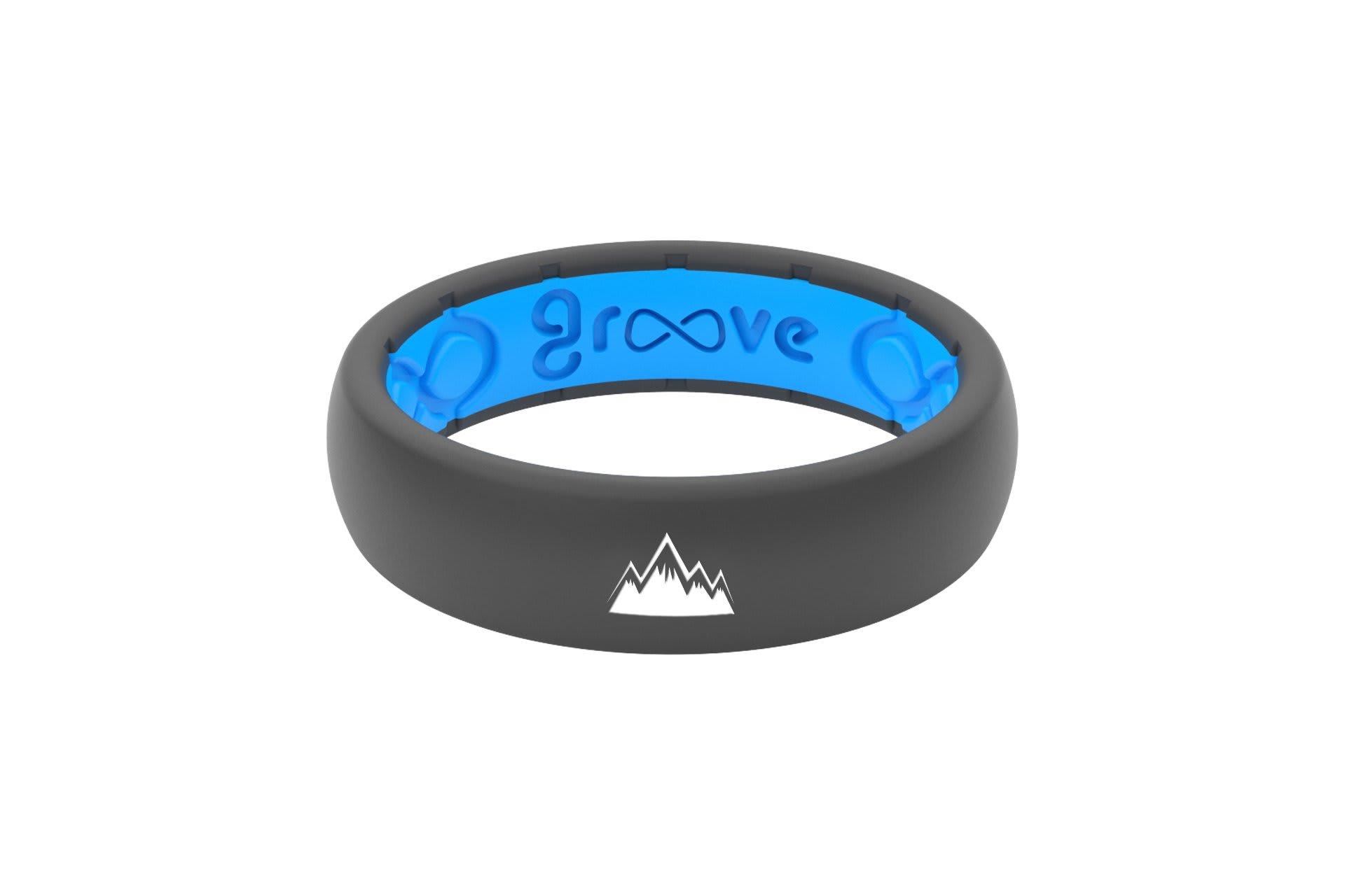 Thin Custom Mountains Deep Stone Grey/Blue- Groove Life