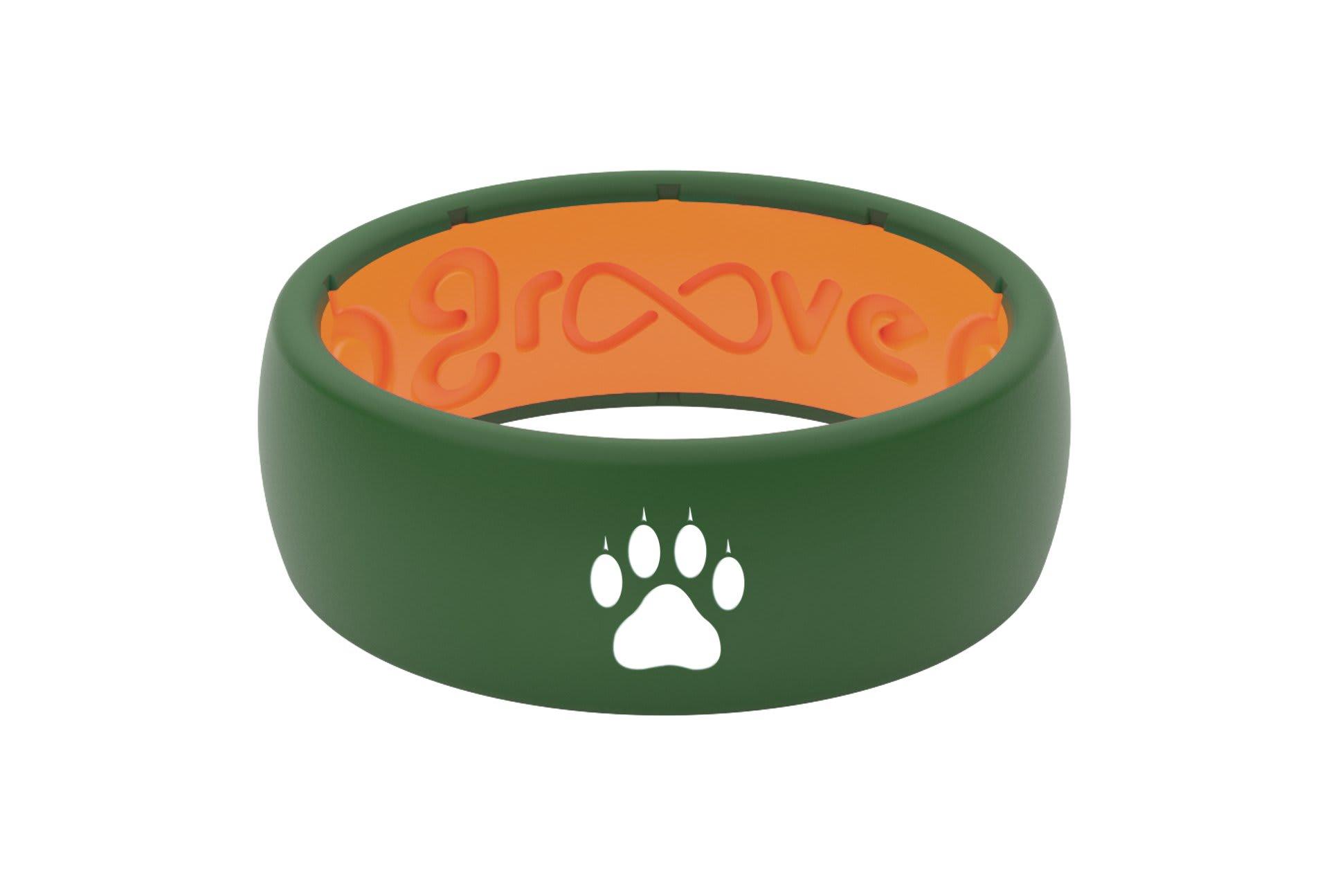 Original Custom Cat Paw Moss Green/Orange - Groove Life