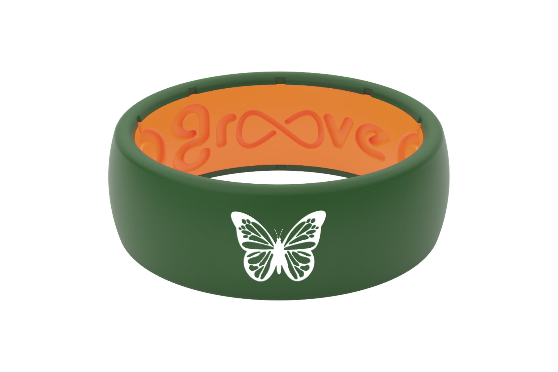 Original Custom Butterfly Moss Green/Orange - Groove Life