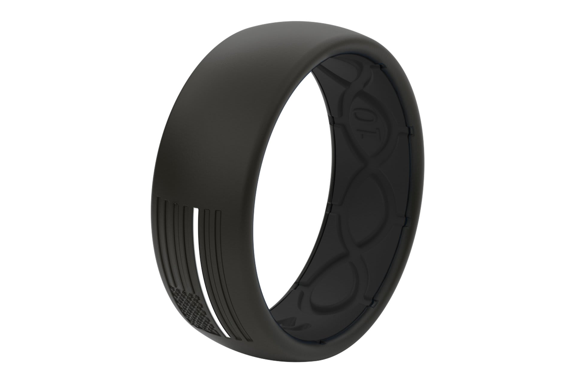 Original Protector EMS White/Black Flag - Groove Life Silicone Wedding Rings