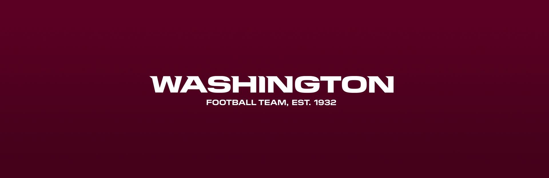 Washington Football Team logo on maroon background