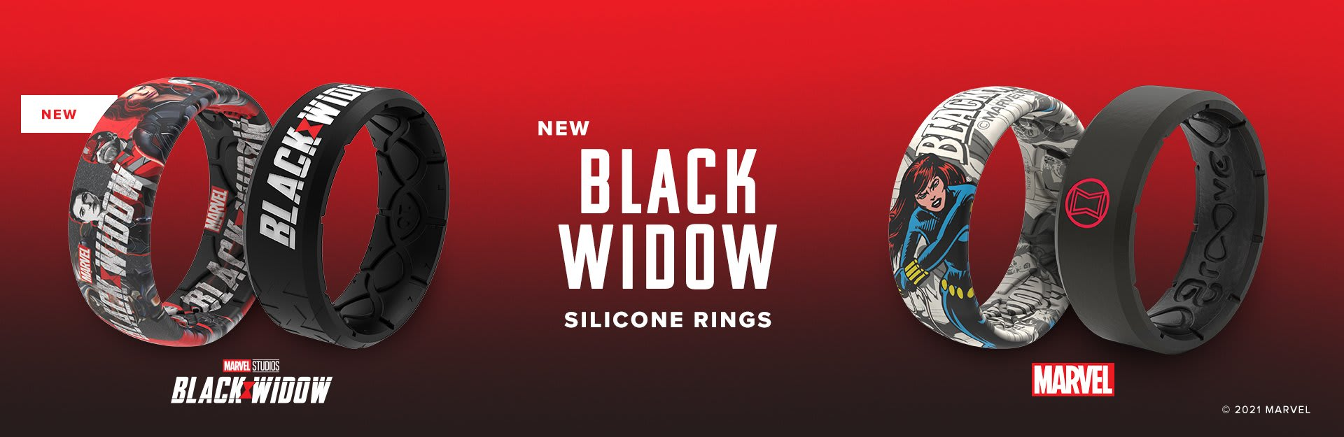 Black Widow Silicone Rings