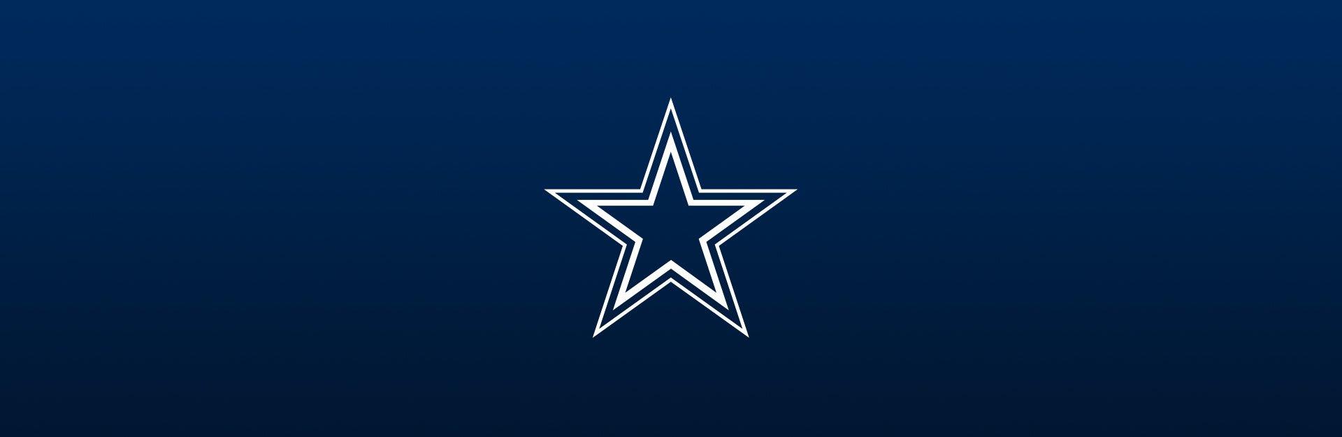Dallas Cowboys logo on navy blue background