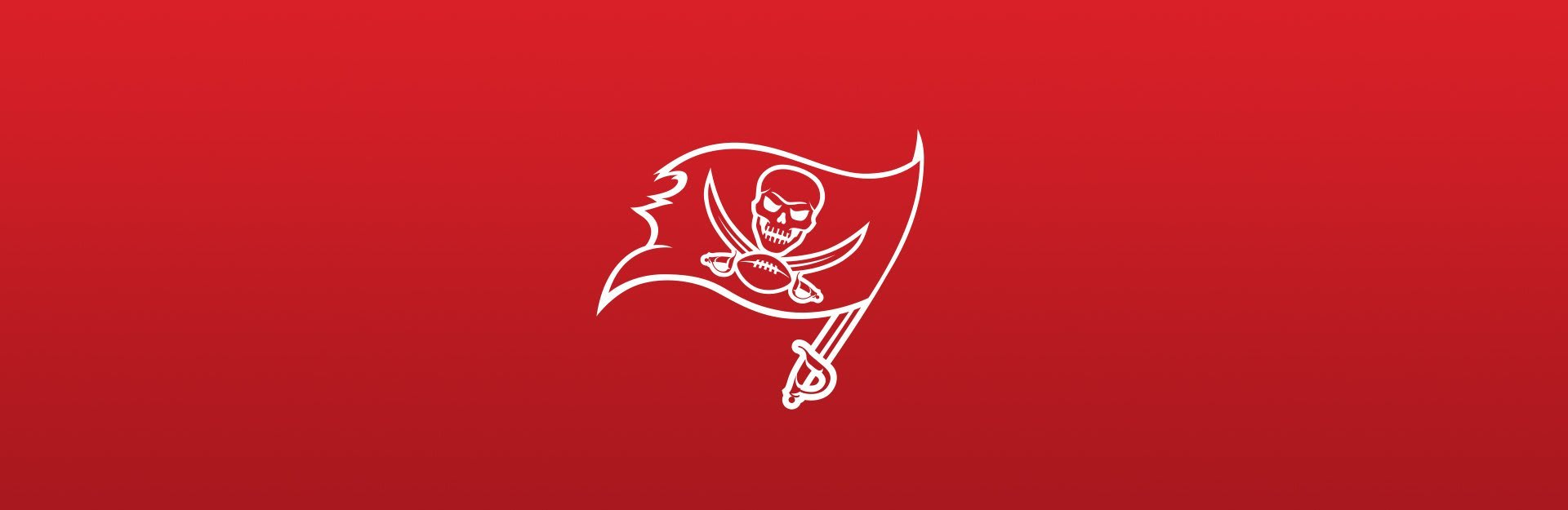 Tampa Bay Buccaneers logo on red background