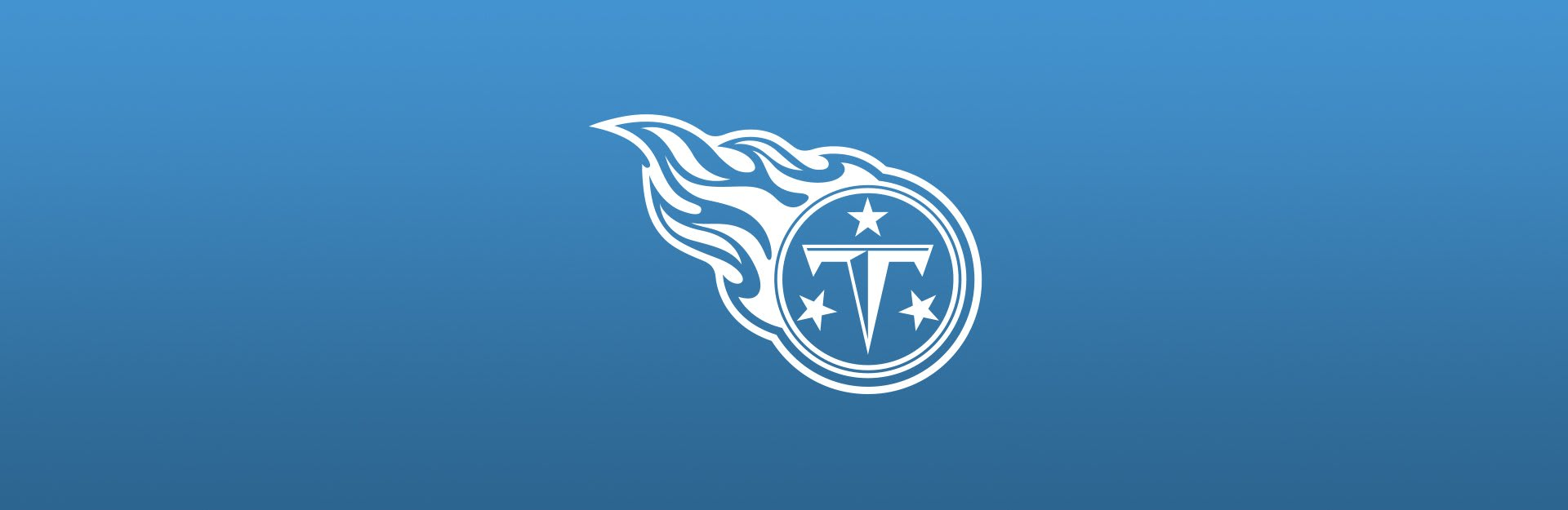 Tennessee Titans logo overlaid on blue background