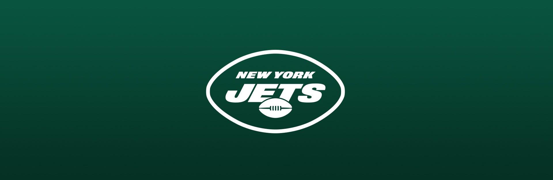 New York Jets logo on green background