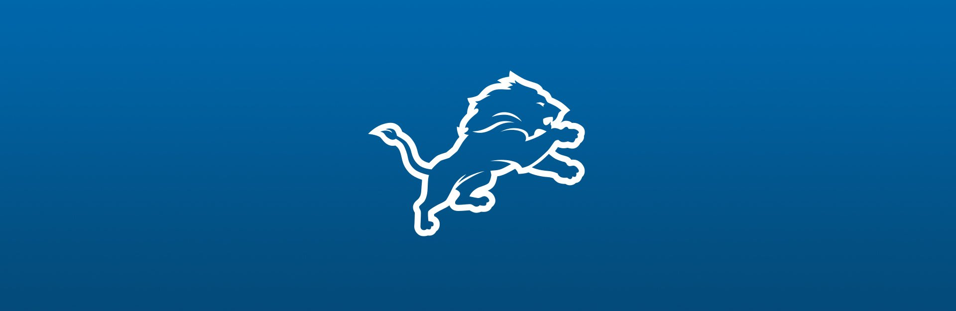 Detroit Lions logo on blue background