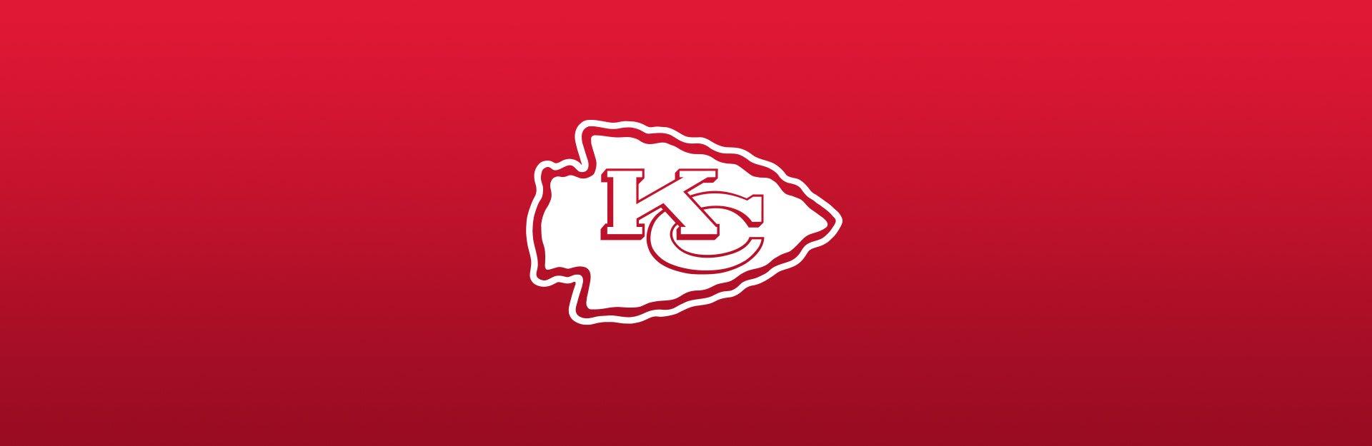 Kansas City Chiefs logo on red background