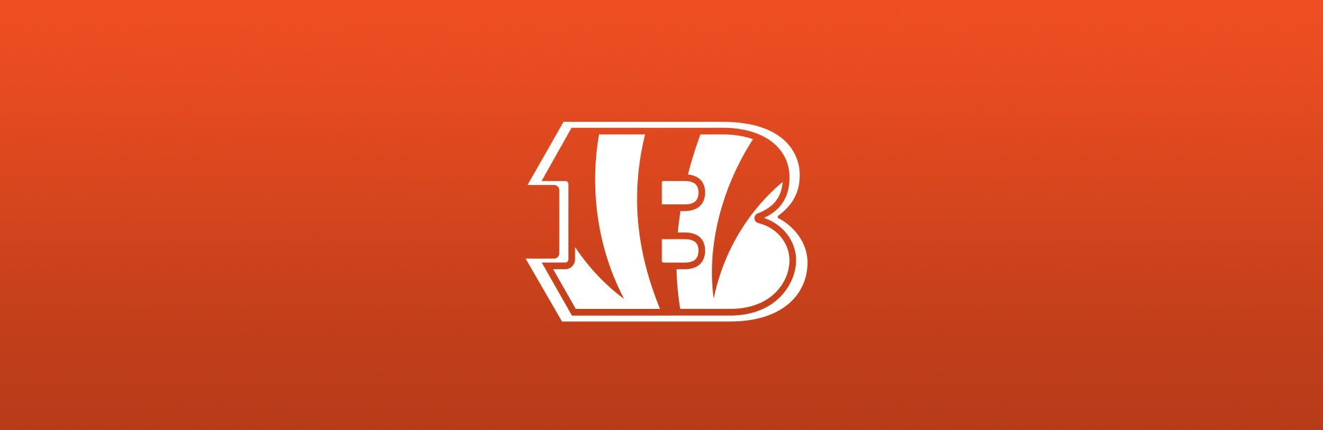Bengals logo on orange background