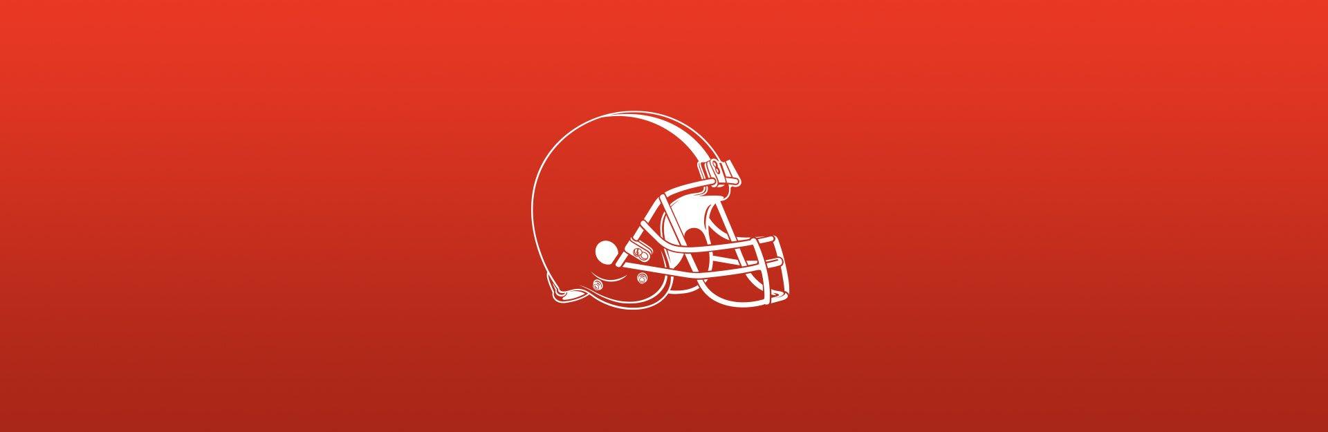 Cleveland Browns background on orange background