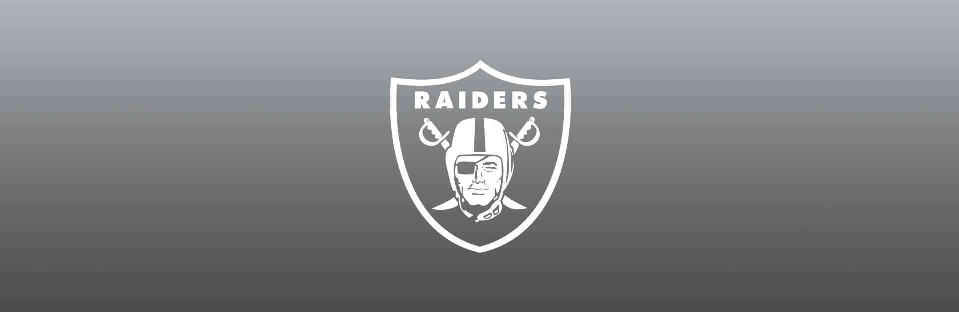 Las Vegas Raiders logo on gray background