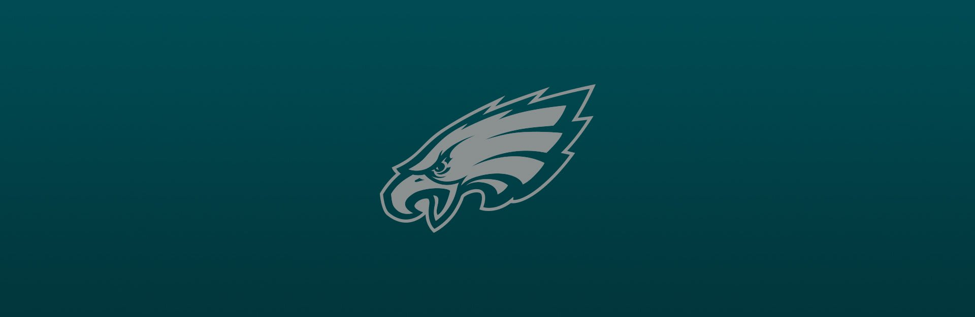 Philadelphia Eagles logo overlaid on blue-green background