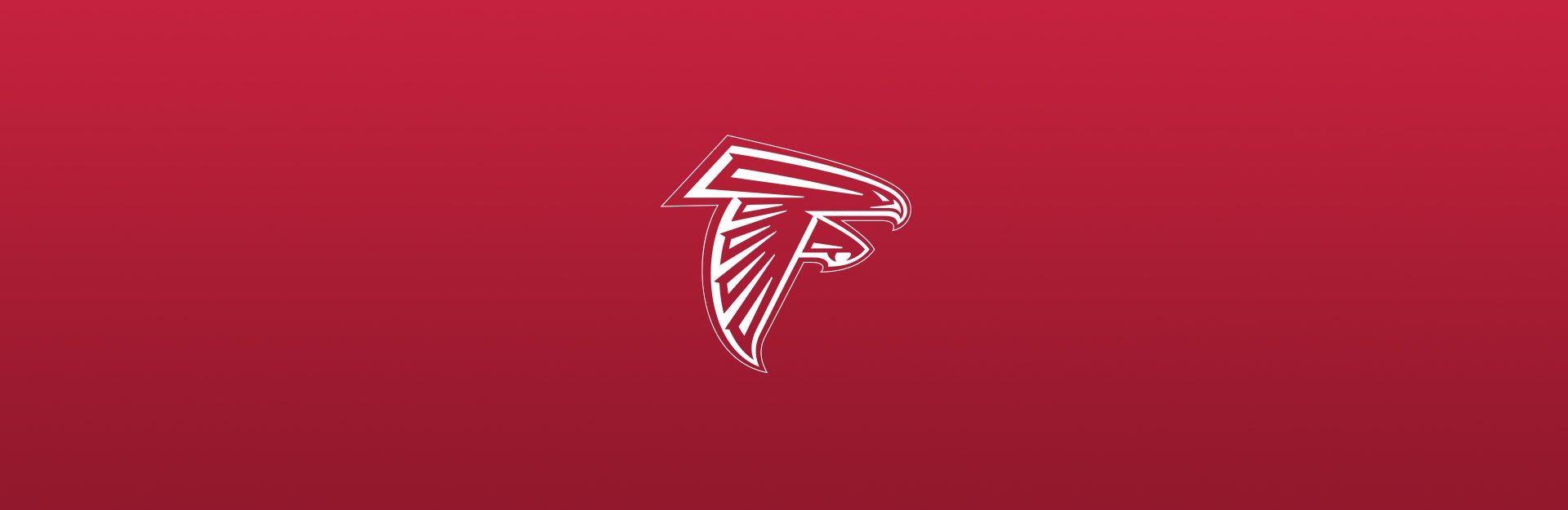 Atlanta Falcons logo on red background