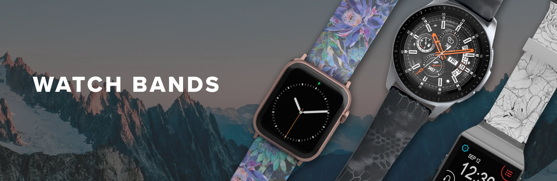 Watch Bands, featuring kryptek samsung watch band and twilight blossom apple watch band