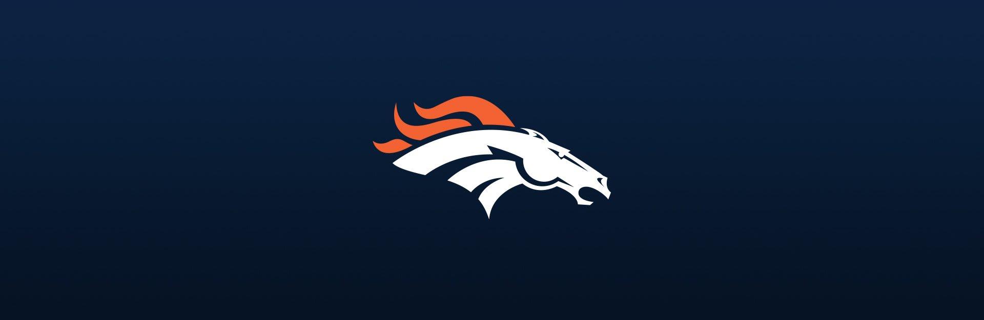 Denver Broncos logo on blue background